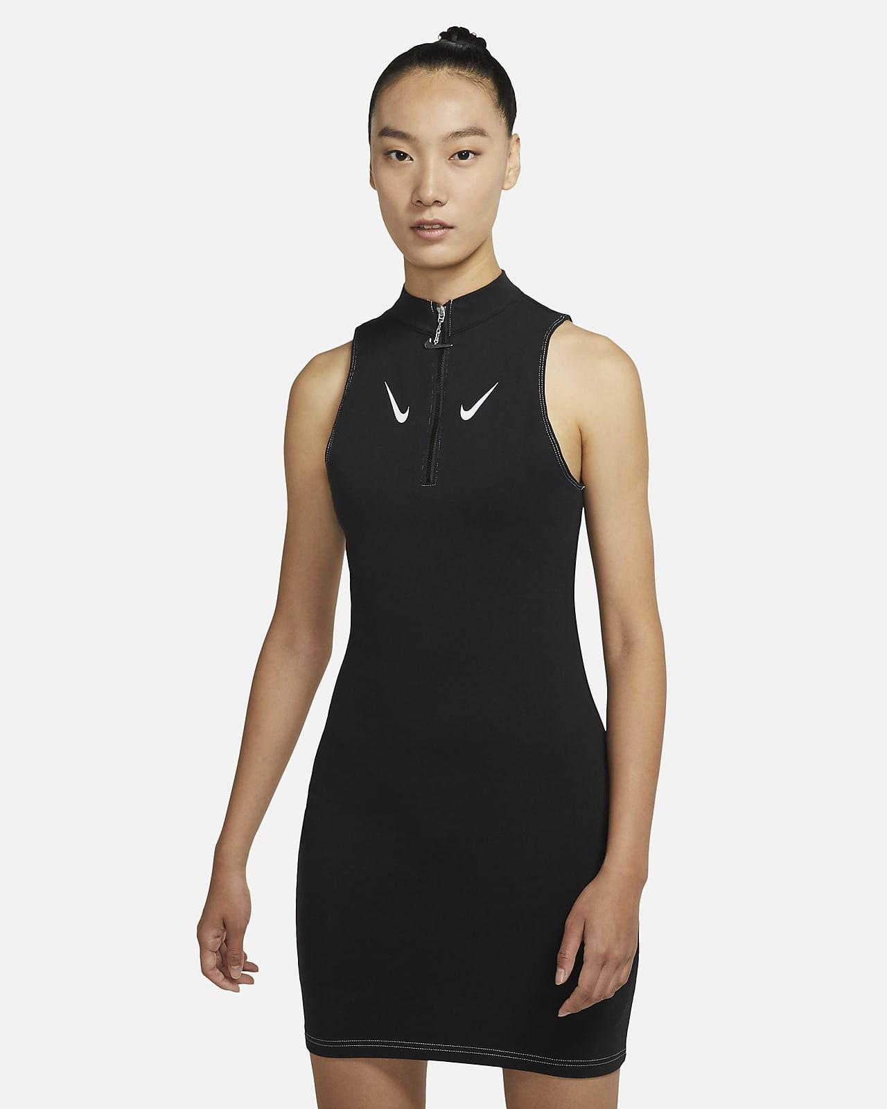 Nike Sportswear Swoosh 女款無袖半長式拉鍊洋裝