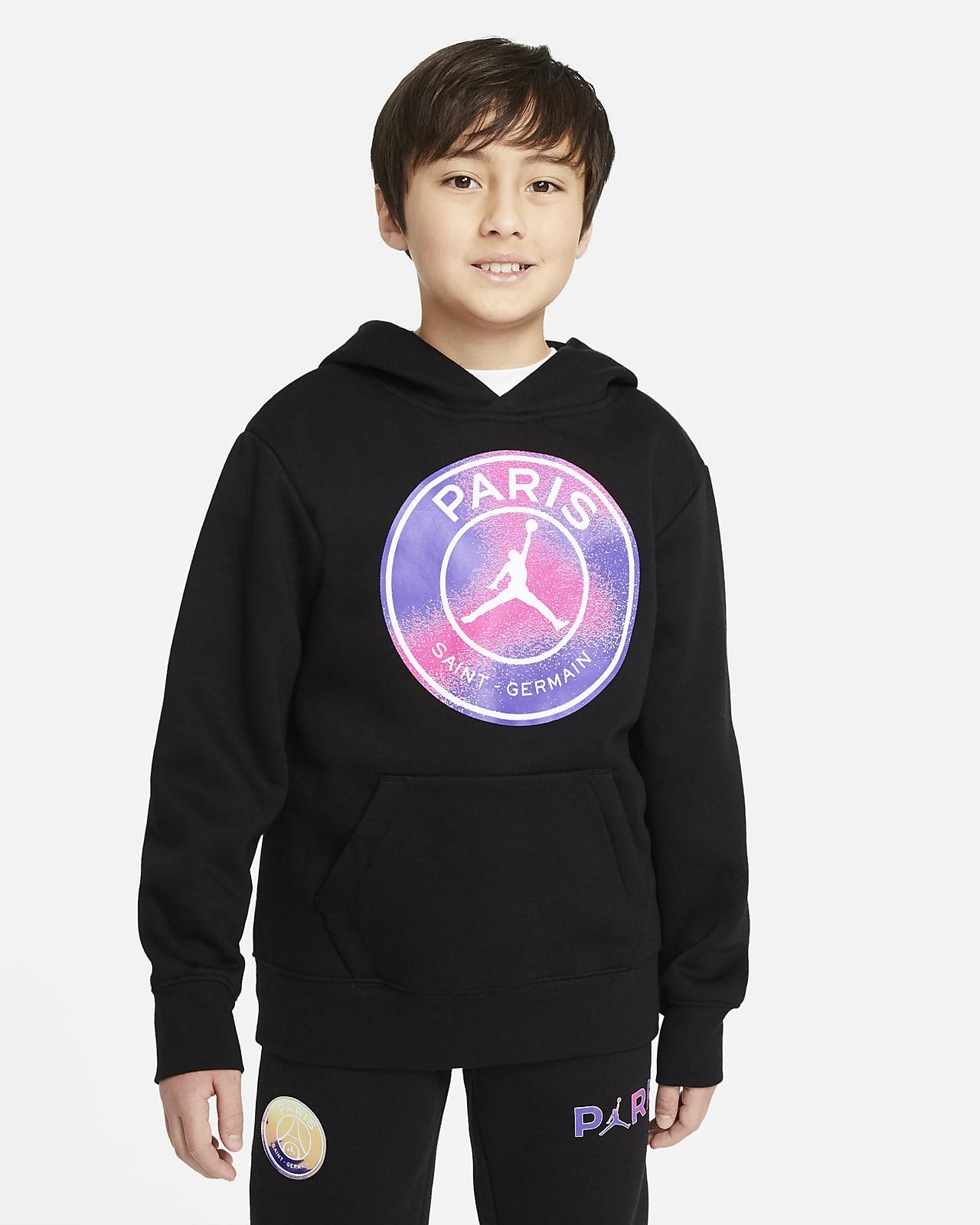 Paris Saint-Germain kapucnis, belebújós pulóver nagyobb gyerekeknek (fiúk)