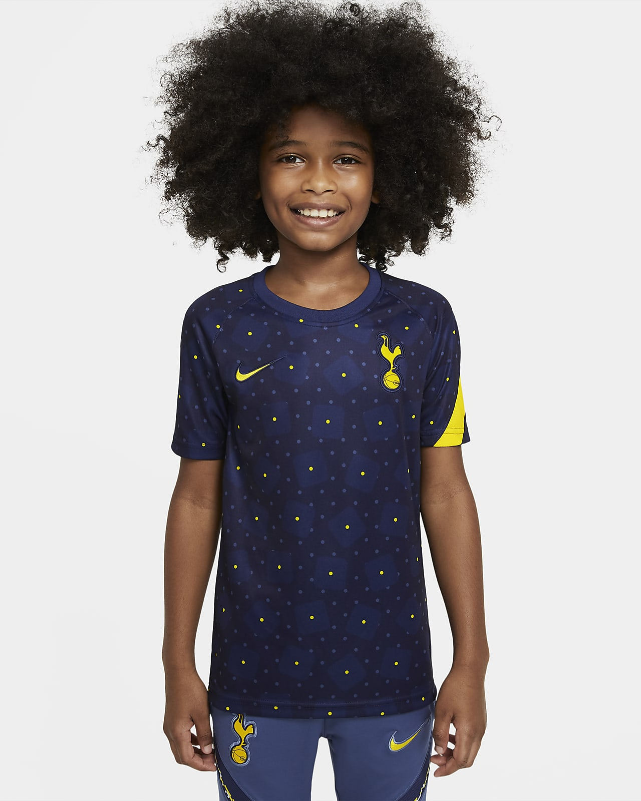 Tottenham Hotspur Older Kids' Pre-Match Short-Sleeve Football Top