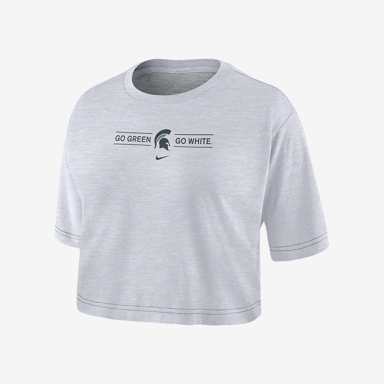 Nike College Dri-FIT (Michigan State) Women's Cropped T-Shirt
