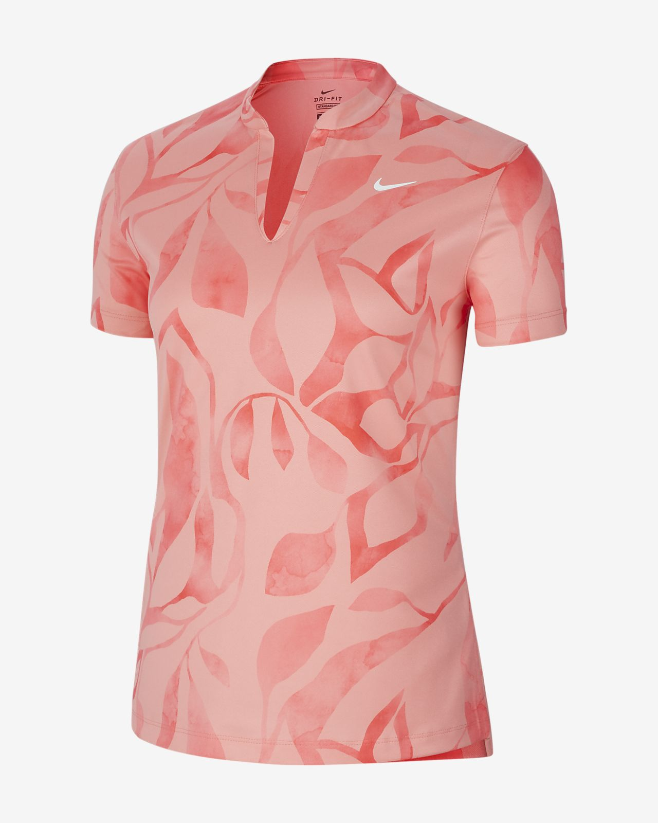 Женская рубашка-поло с принтом для гольфа Nike Dri-FIT Victory
