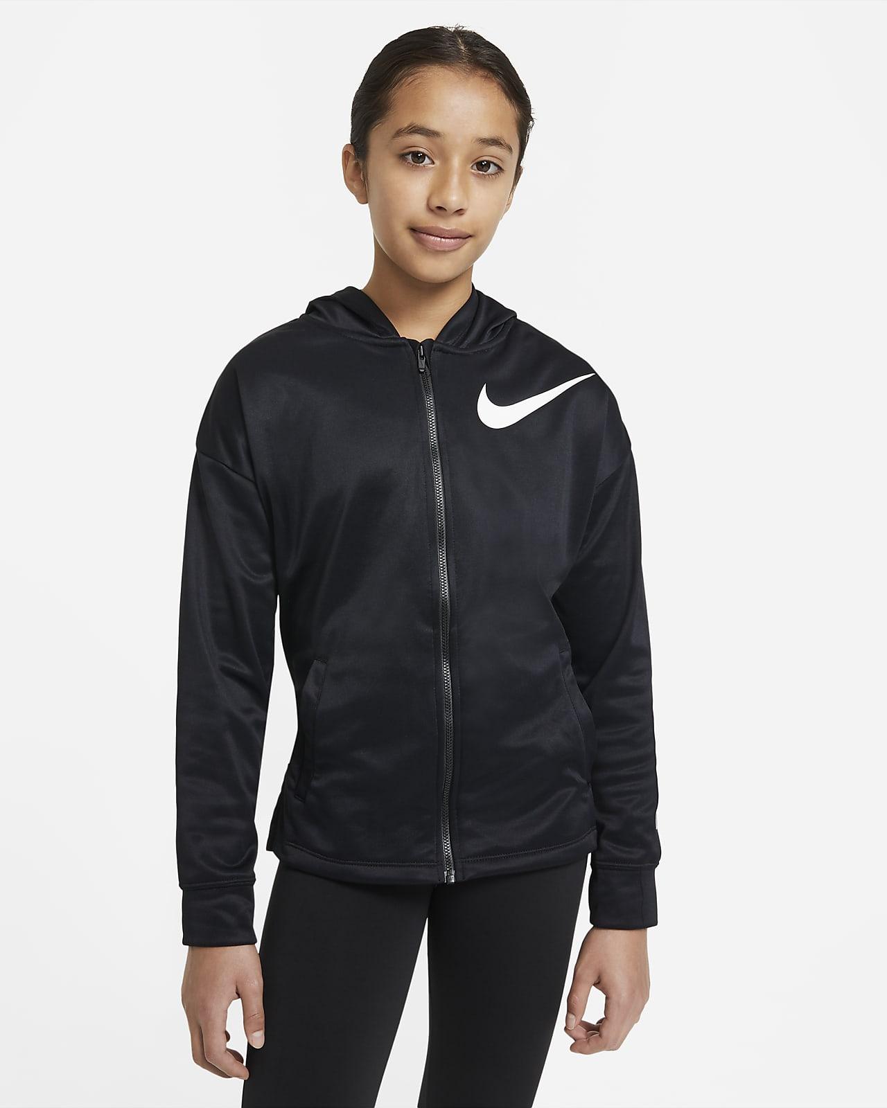 Nike Therma Big Kids' (Girls') Full-Zip Hoodie