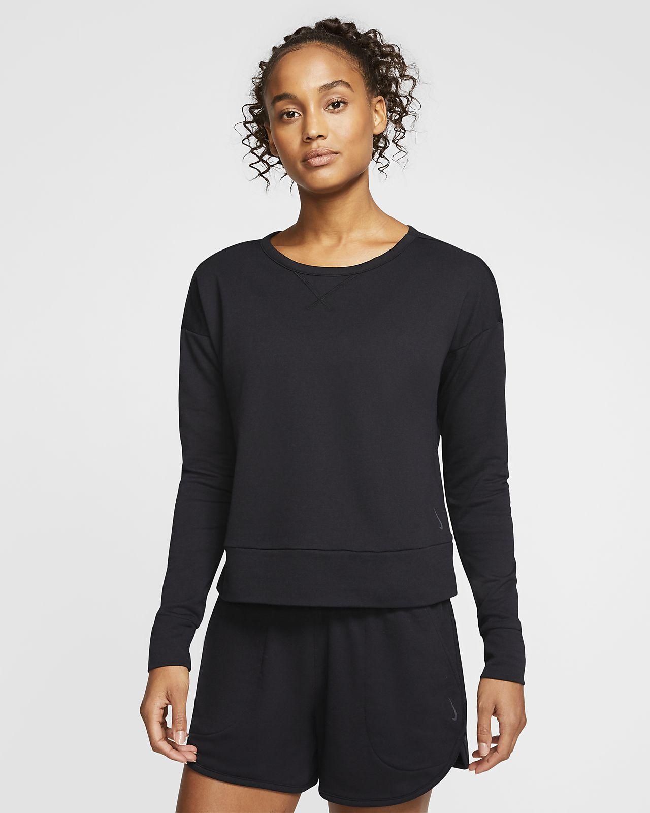 Haut à manches longues Nike Yoga pour Femme