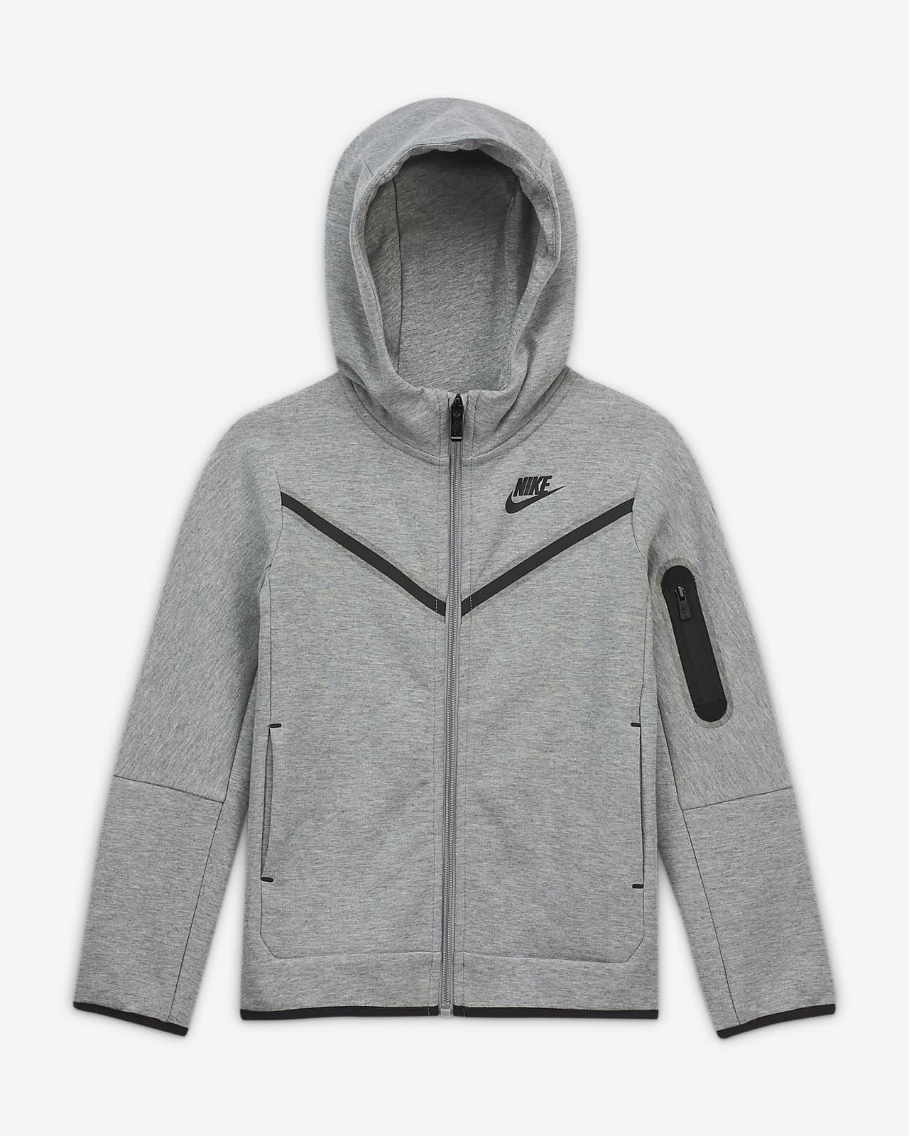Nike Sportswear Tech Fleece - hættetrøje med lynlås til mindre børn