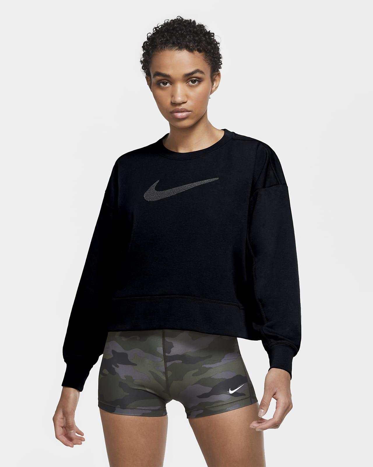 Sudadera de cuello redondo de entrenamiento Swoosh para mujer Nike Dri-FIT Get Fit