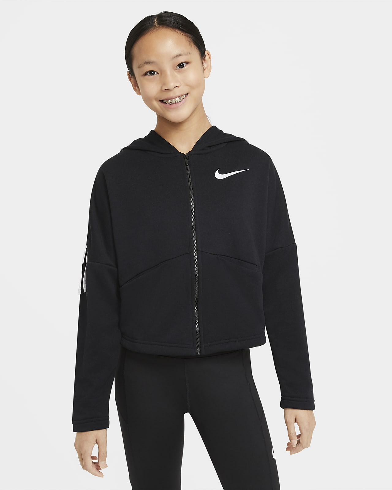 Sweat à capuche de training à zip Nike pour Fille plus âgée