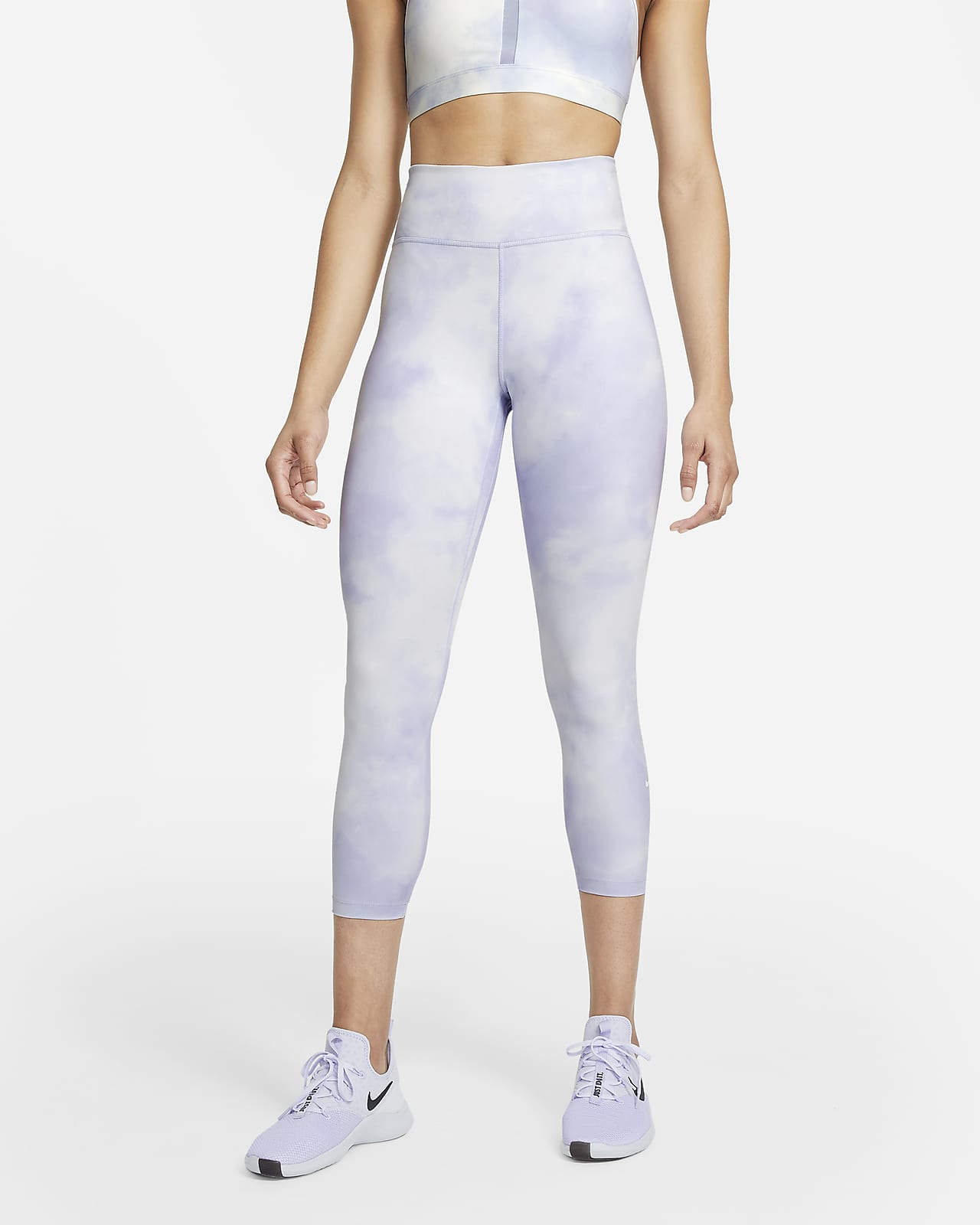 Nike One Icon Clash Korte legging met halfhoge taille voor dames