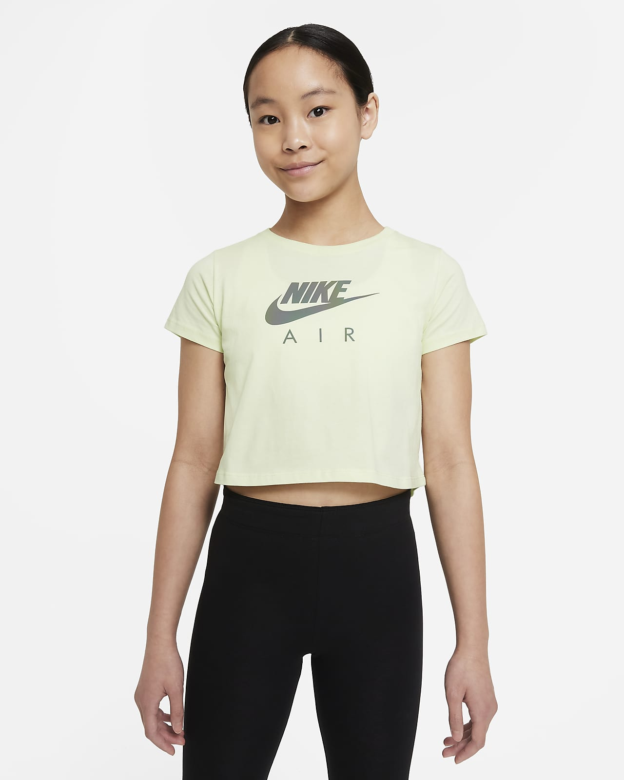 Playera cropped para niña talla grande Nike Sportswear