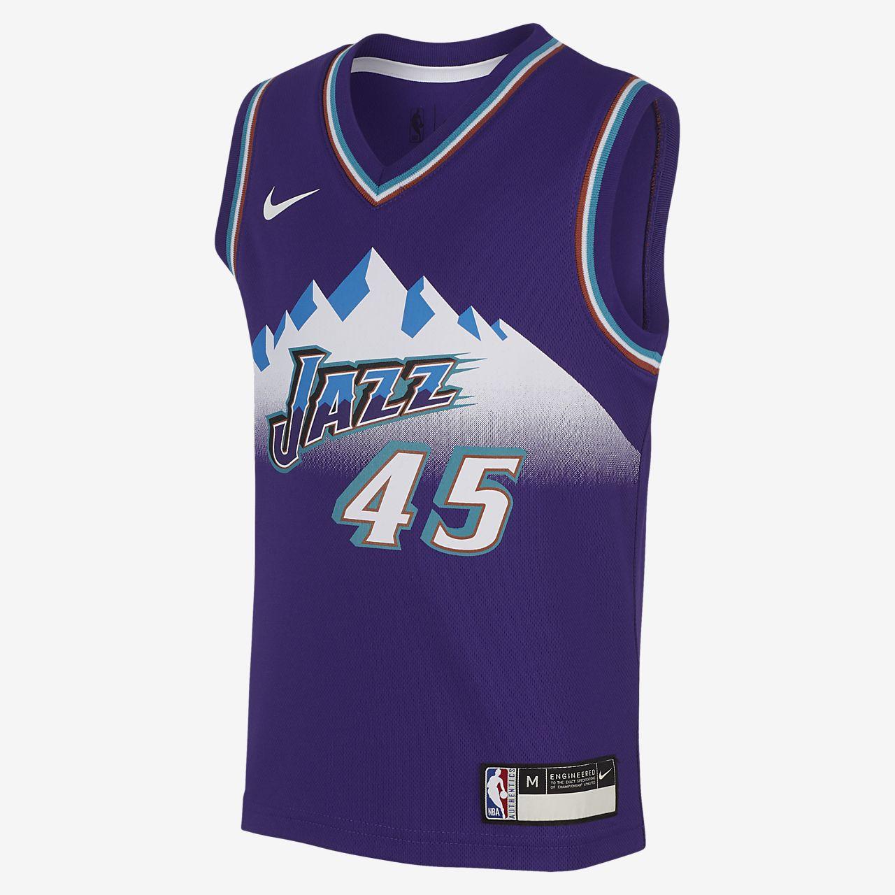 犹他爵士队 (Donovan Mitchell) Classic Edition Nike NBA Replica Jersey 幼童球衣