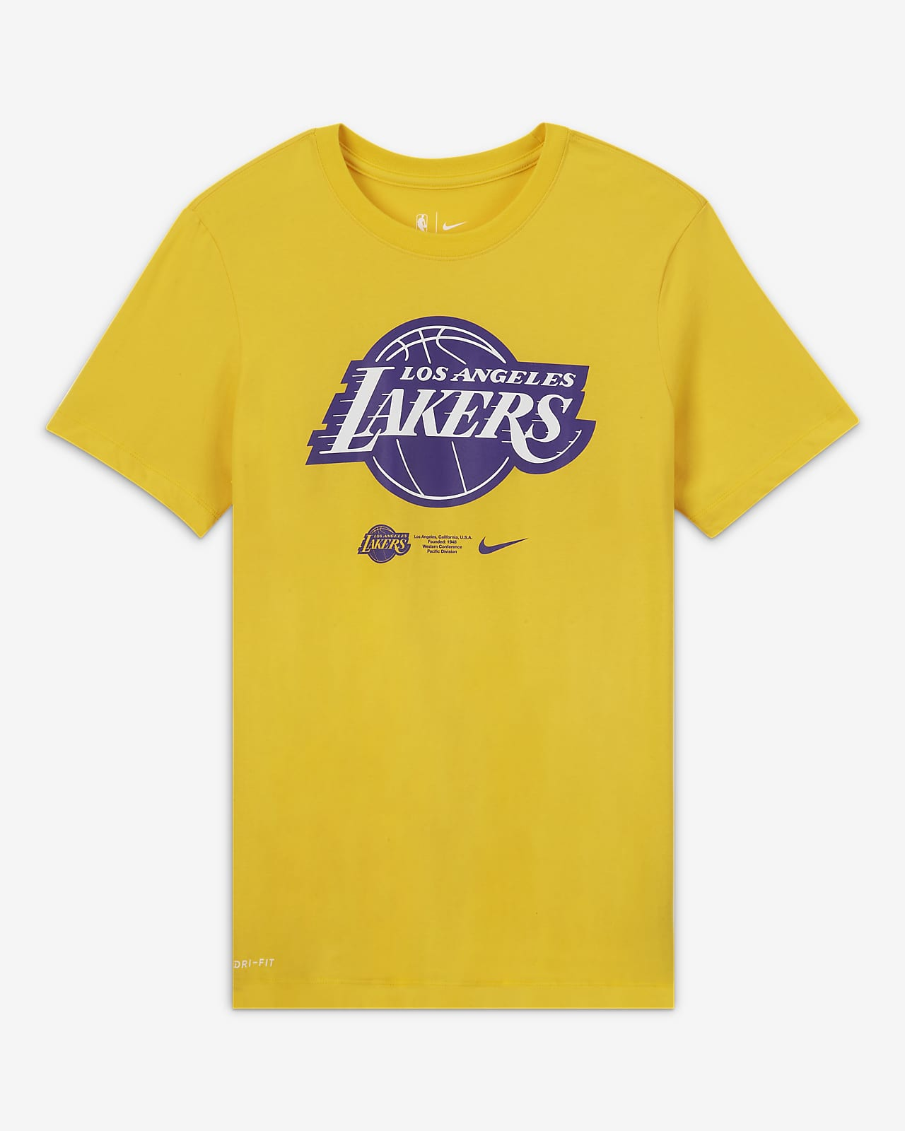 Tee-shirt NBA Nike Dri-FIT Los Angeles Lakers Logo pour Homme