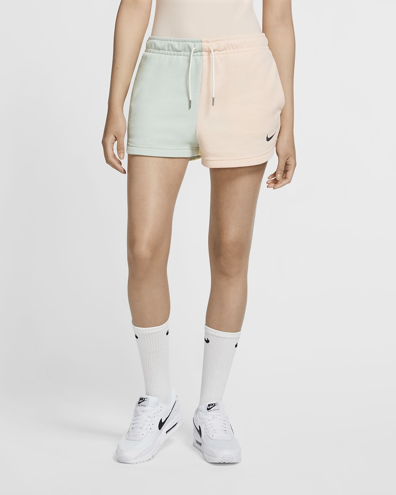 Shorts in French Terry Nike Sportswear Swoosh - Donna