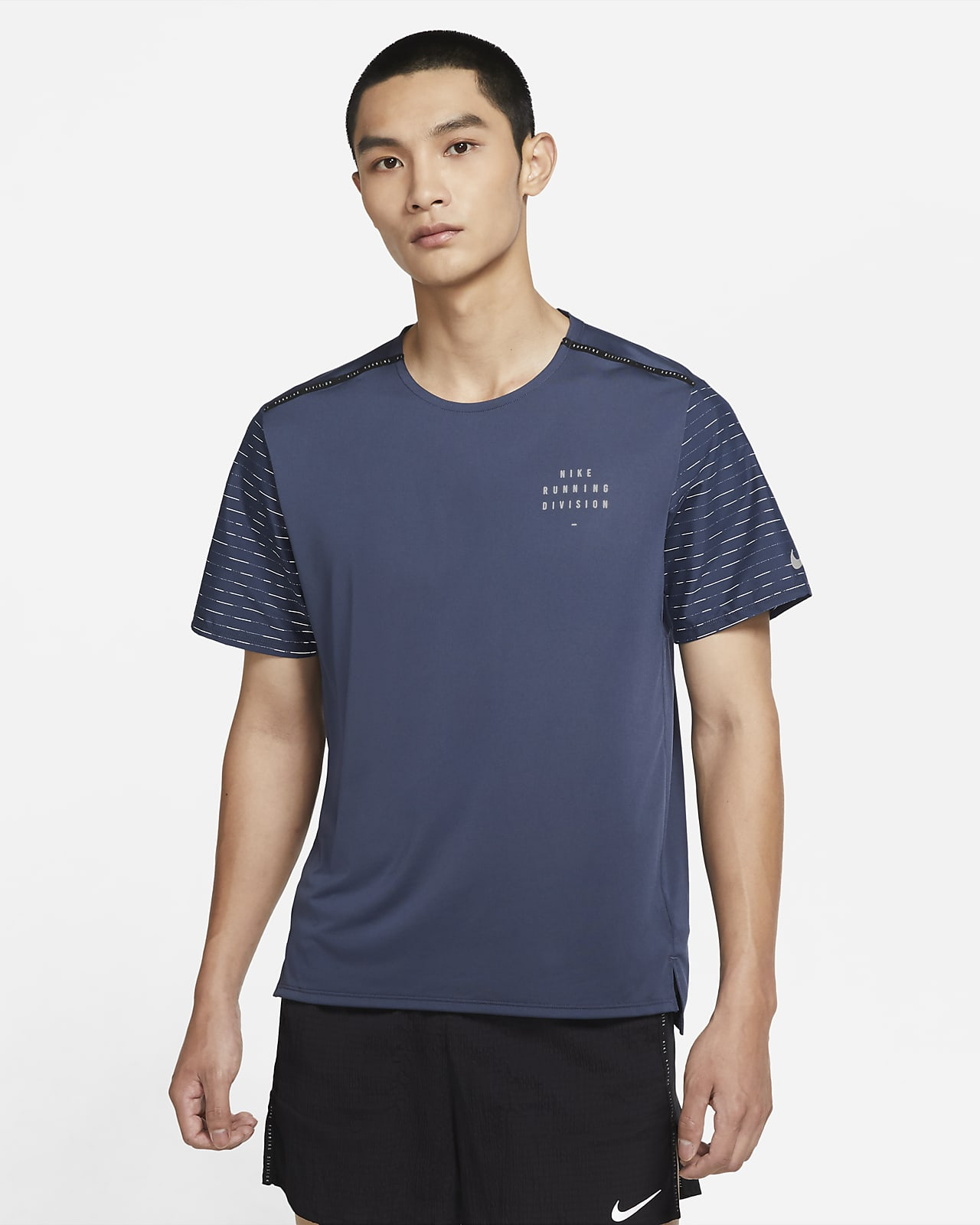 เสื้อวิ่งแขนสั้นผู้ชาย Nike Dri-FIT Rise 365 Run Division