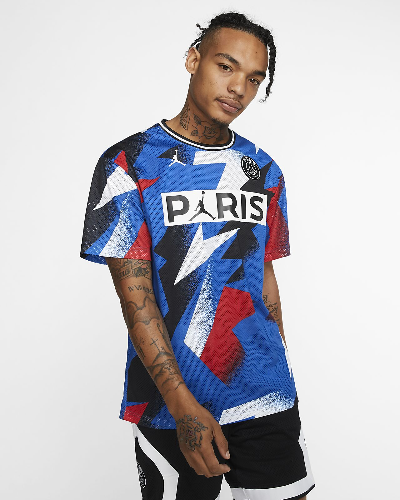 Paris Saint-Germain Mesh Short-Sleeve Top