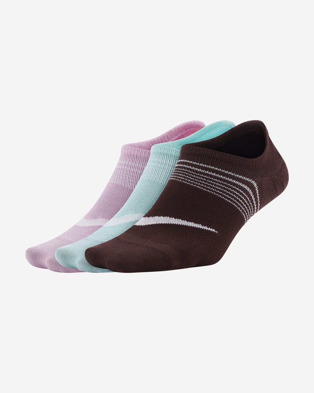 ถุงเท้าเทรนนิ่งผู้หญิงแบบซ่อน Nike Everyday Plus Lightweight (3 คู่)