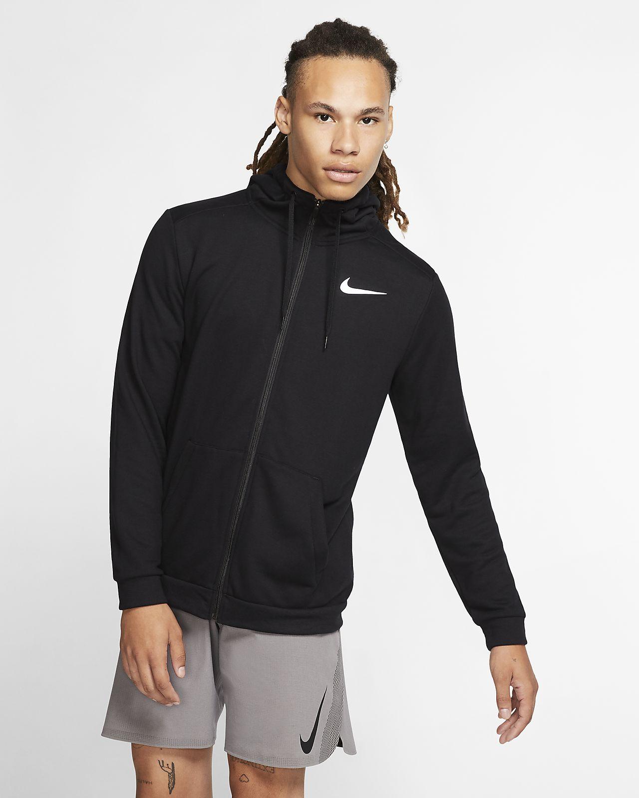 Nike Dri-FIT 男款全長式拉鍊訓練連帽上衣