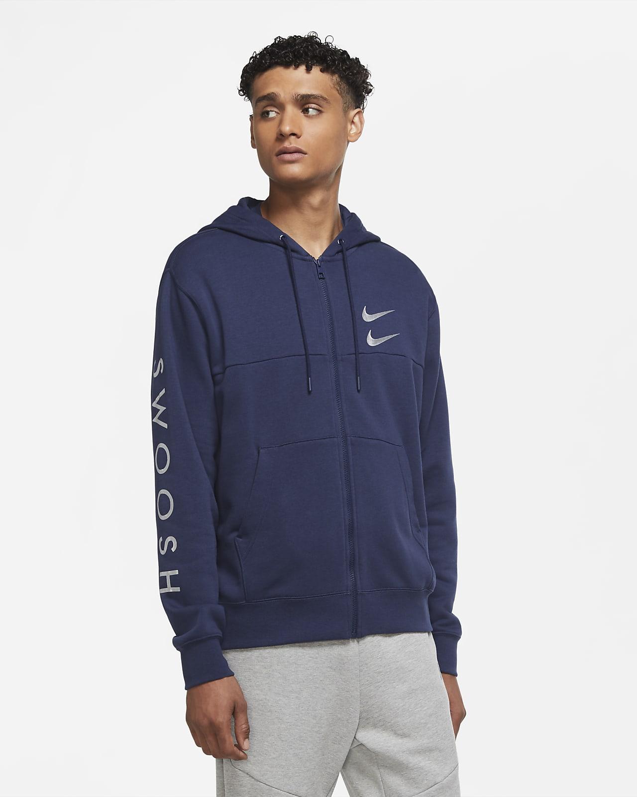 Sudadera con capucha de cierre completo para hombre Nike Swoosh