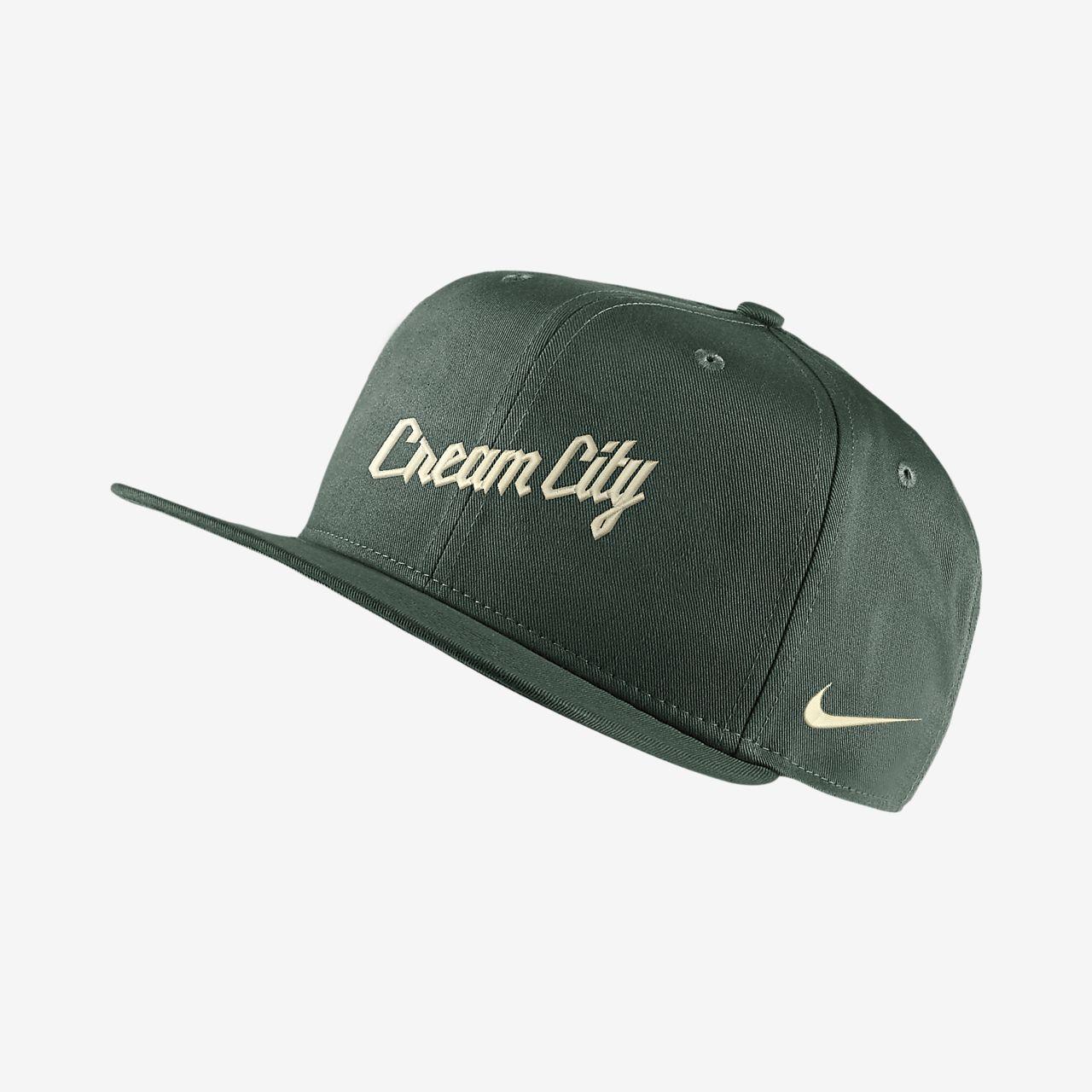 Milwaukee Bucks City Edition Nike Pro NBA justerbar caps
