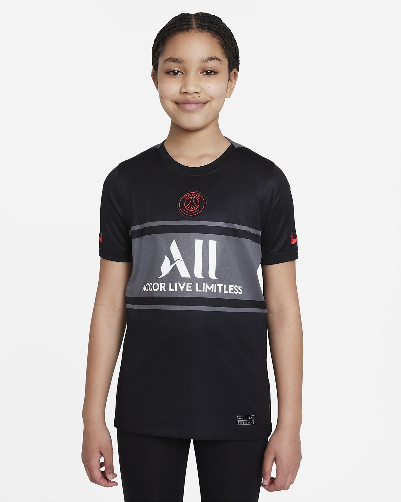 Jersey de fútbol Dri-FIT Nike del Paris Saint-Germain alternativo 2021/22 Stadium para niños talla grande