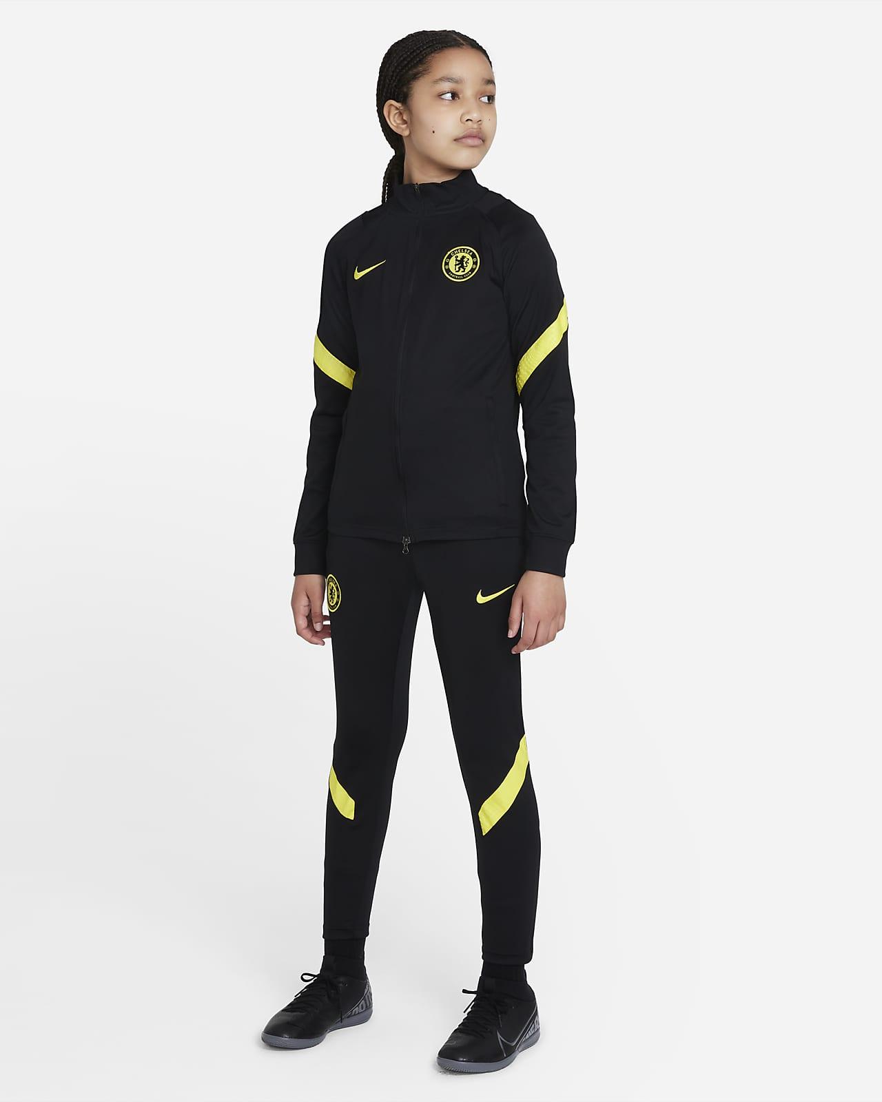 Chelsea FC Strike Nike Dri-FIT Genç Çocuk Futbol Eşofmanı