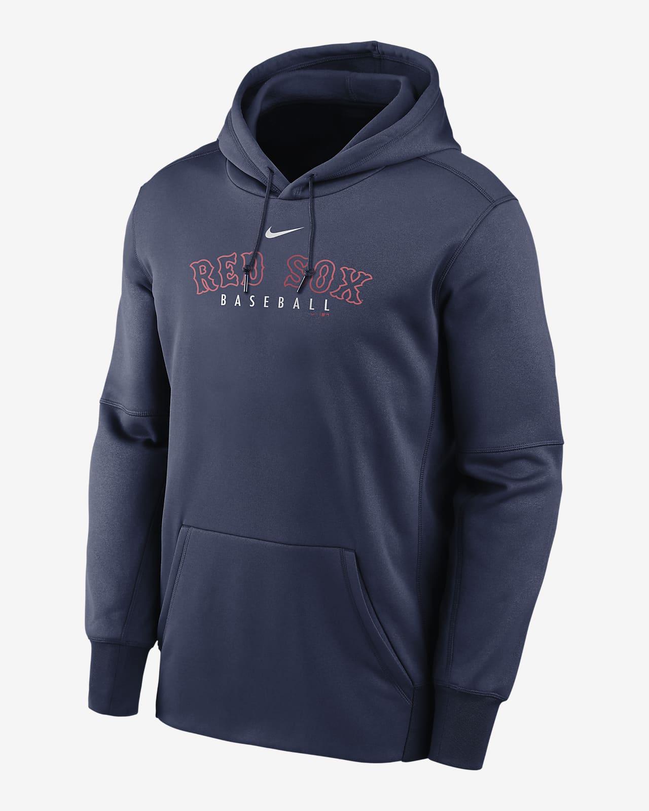 Nike Therma Outline Wordmark (MLB Boston Red Sox) Men's Pullover Hoodie