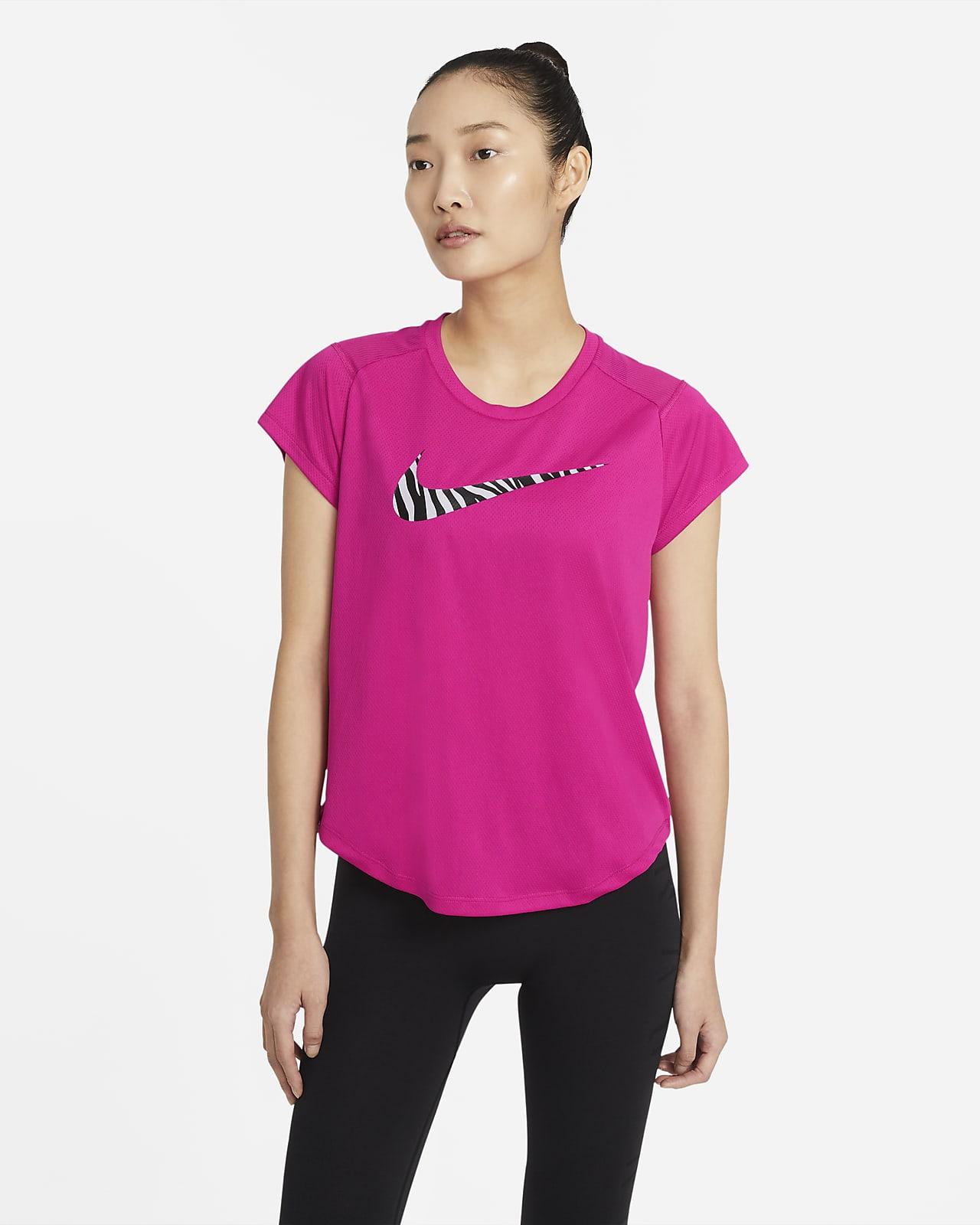 Haut de running à manches courtes Nike Run Icon Clash pour Femme