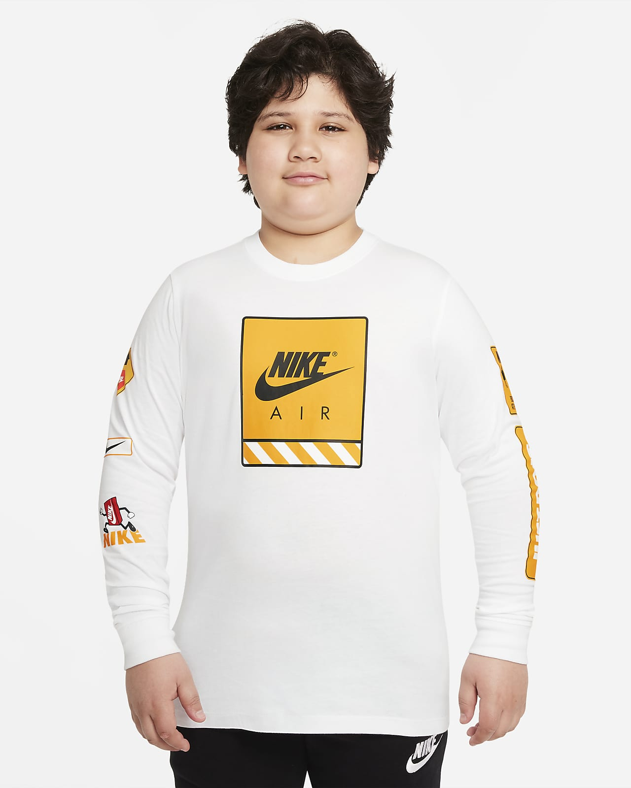Playera de manga larga para niños talla grande (talla extendida) Nike Sportswear