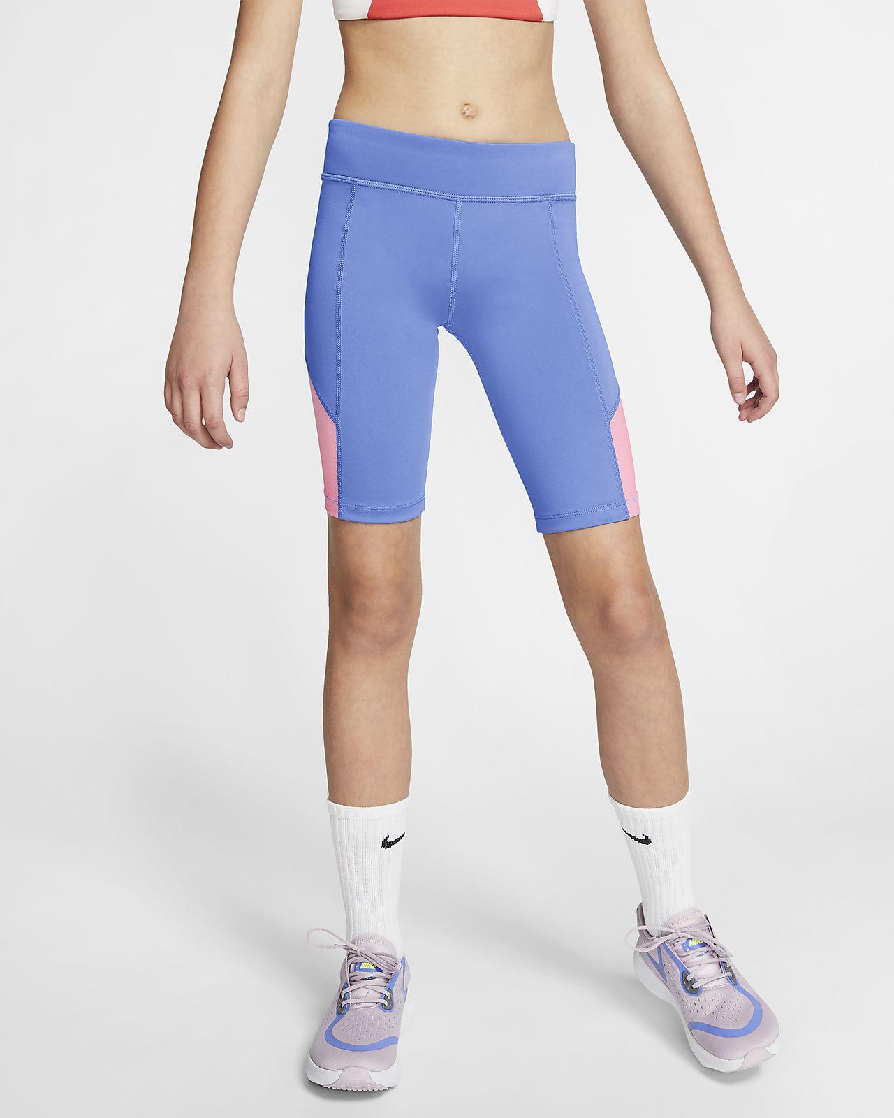 Shorts de ciclismo para entrenamiento para niña talla grande Nike Trophy