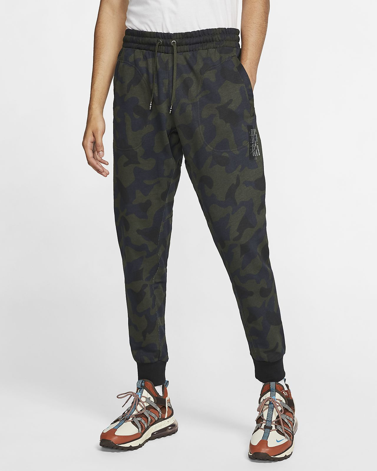 Nike Sportswear Men's French Terry Printed Trousers