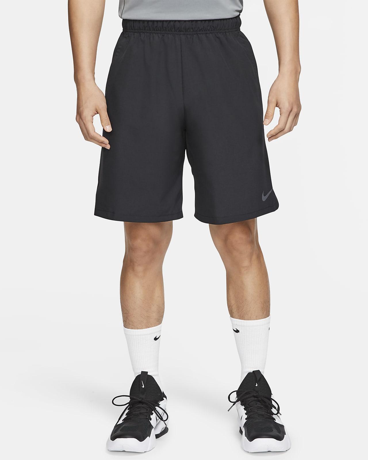 กางเกงเทรนนิ่งแบบทอขาสั้นผู้ชาย Nike Flex