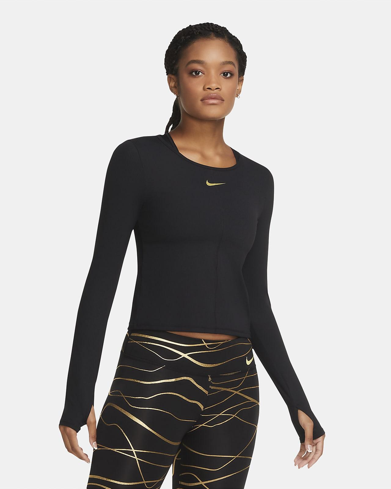 Damska koszulka z długim rękawem do biegania Nike Icon Clash