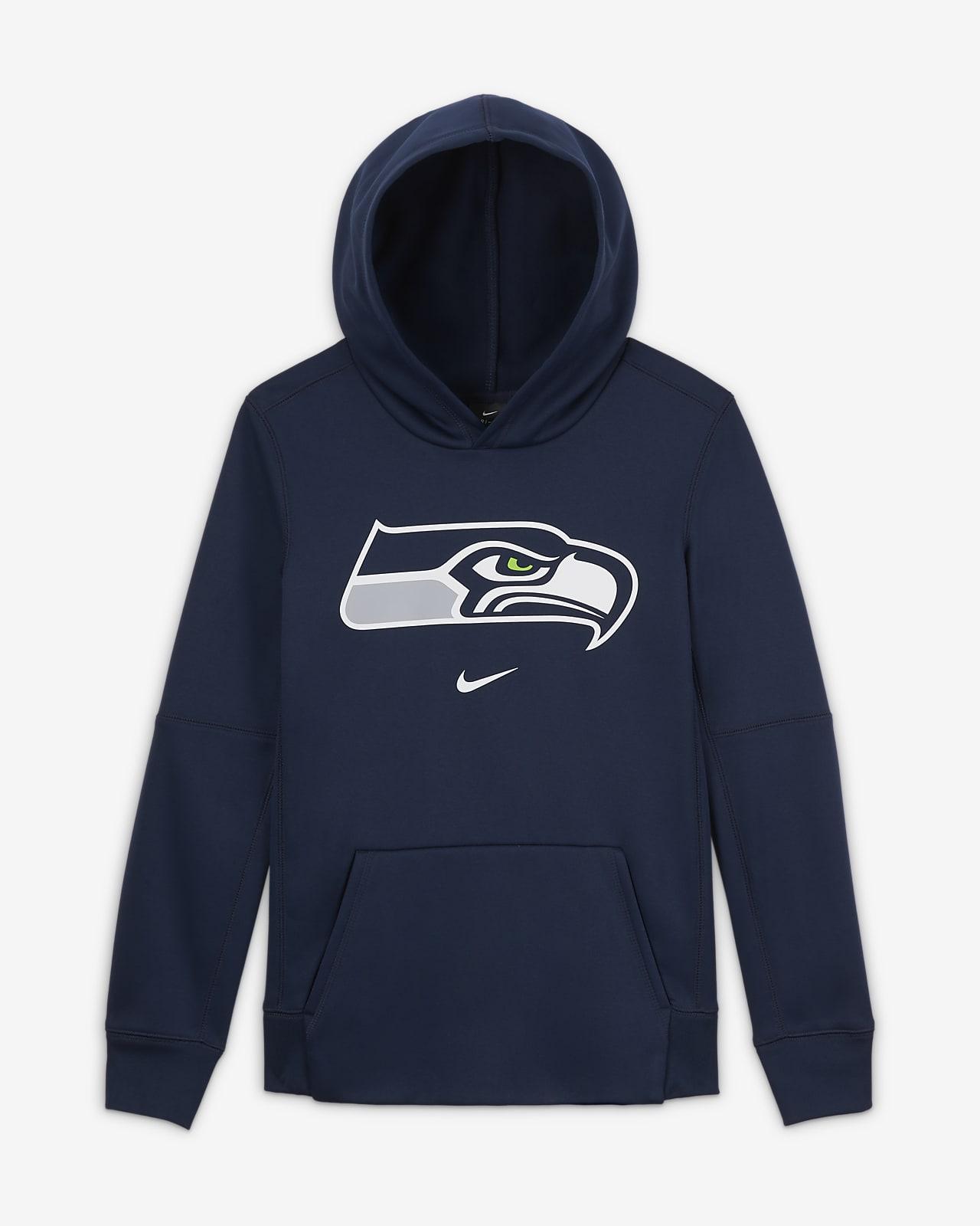 Sweat à capuche avec logo Nike Essential Seattle Seahawks pour Garçon plus âgé