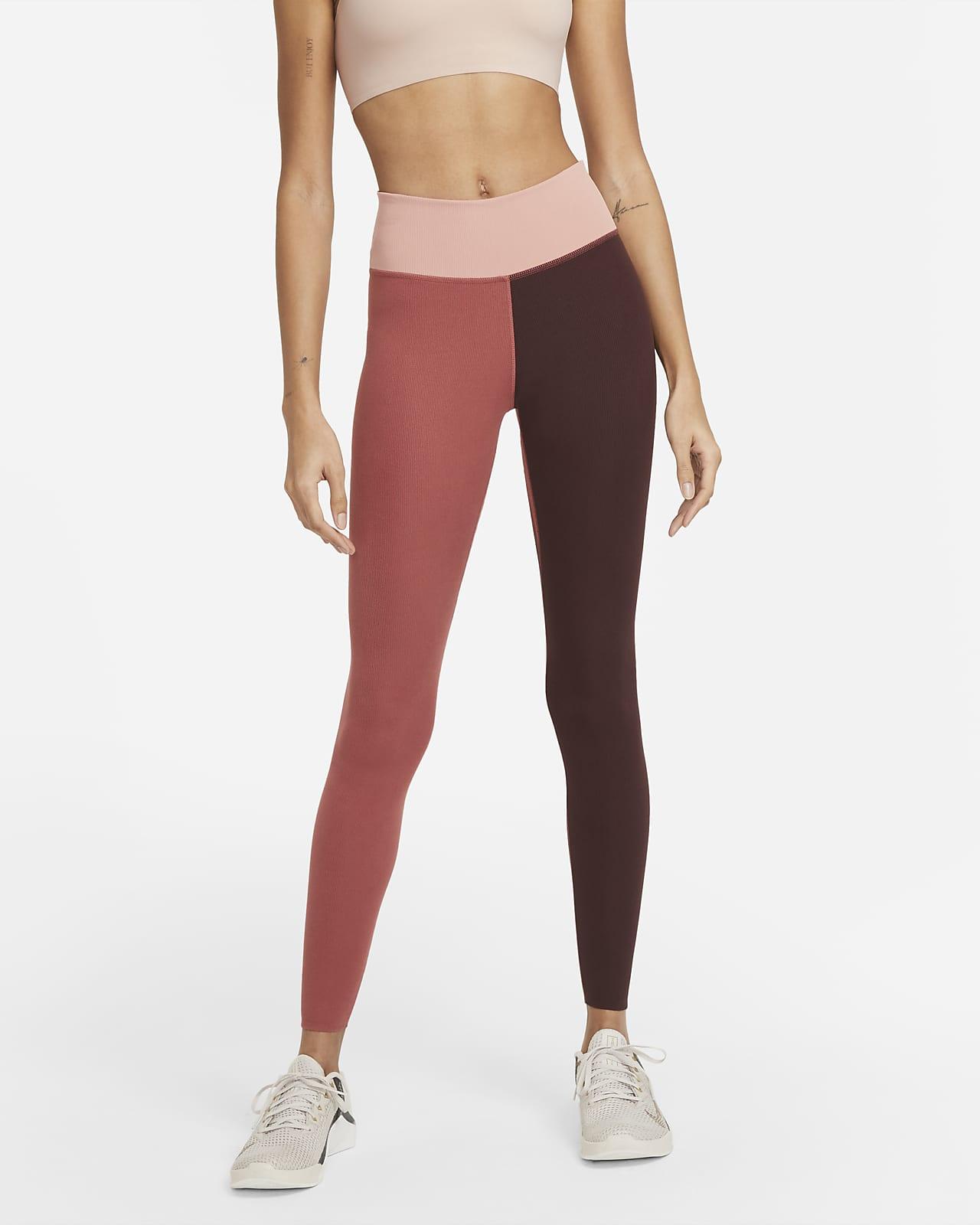 Nike One Luxe-leggings med mellemhøj talje i rib til kvinder