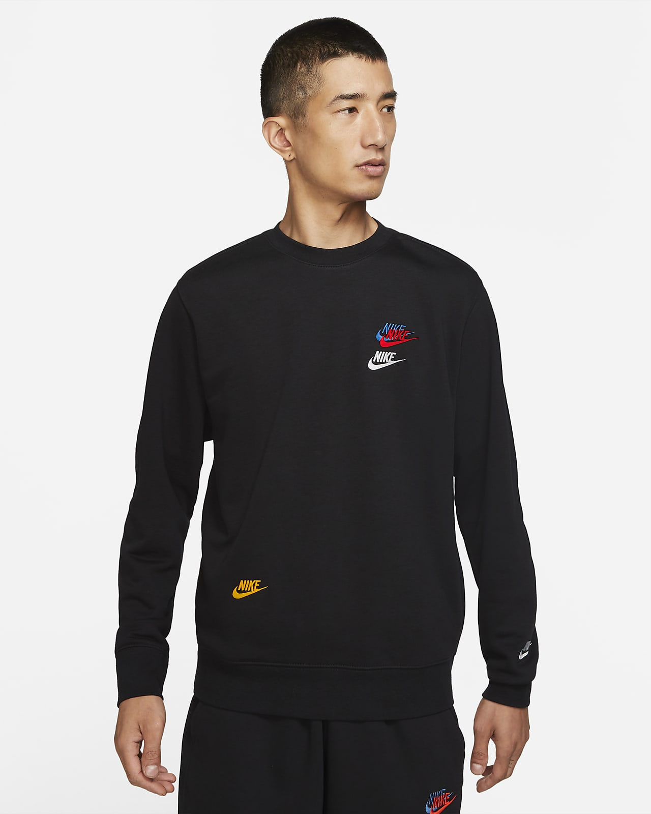 Nike Sportswear Essentials+ 男款法國毛圈布圓領上衣