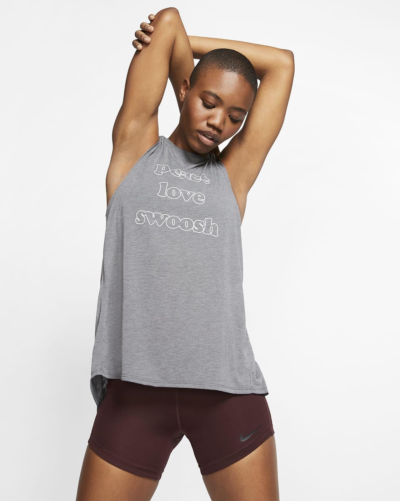 เสื้อกล้ามเทรนนิ่งผู้หญิง Nike
