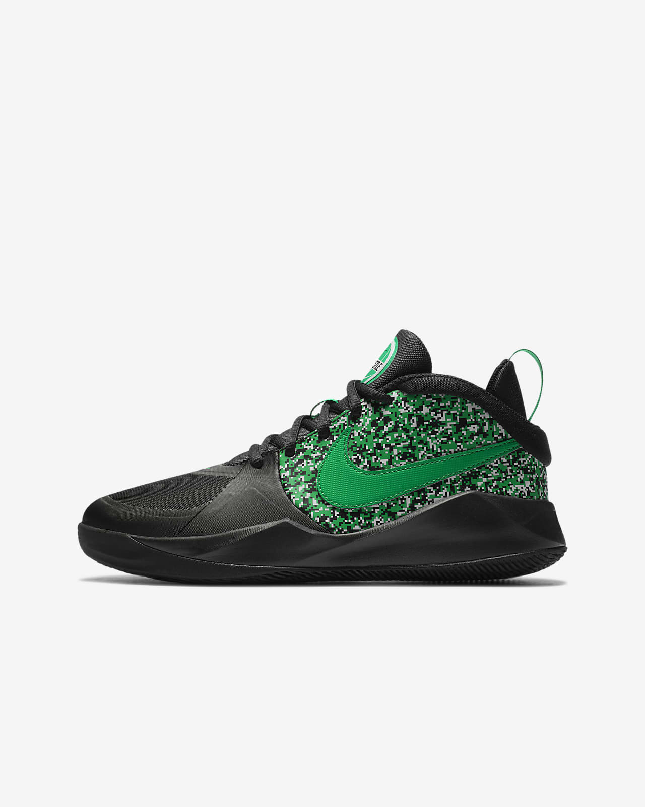 Nike Team Hustle D 9 Digi Big Kids' Basketball Shoe
