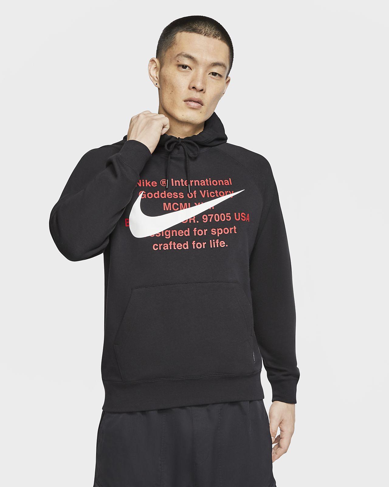 เสื้อมีฮู้ดผ้าเฟรนช์เทรีผู้ชายแบบสวม Nike Sportswear Swoosh