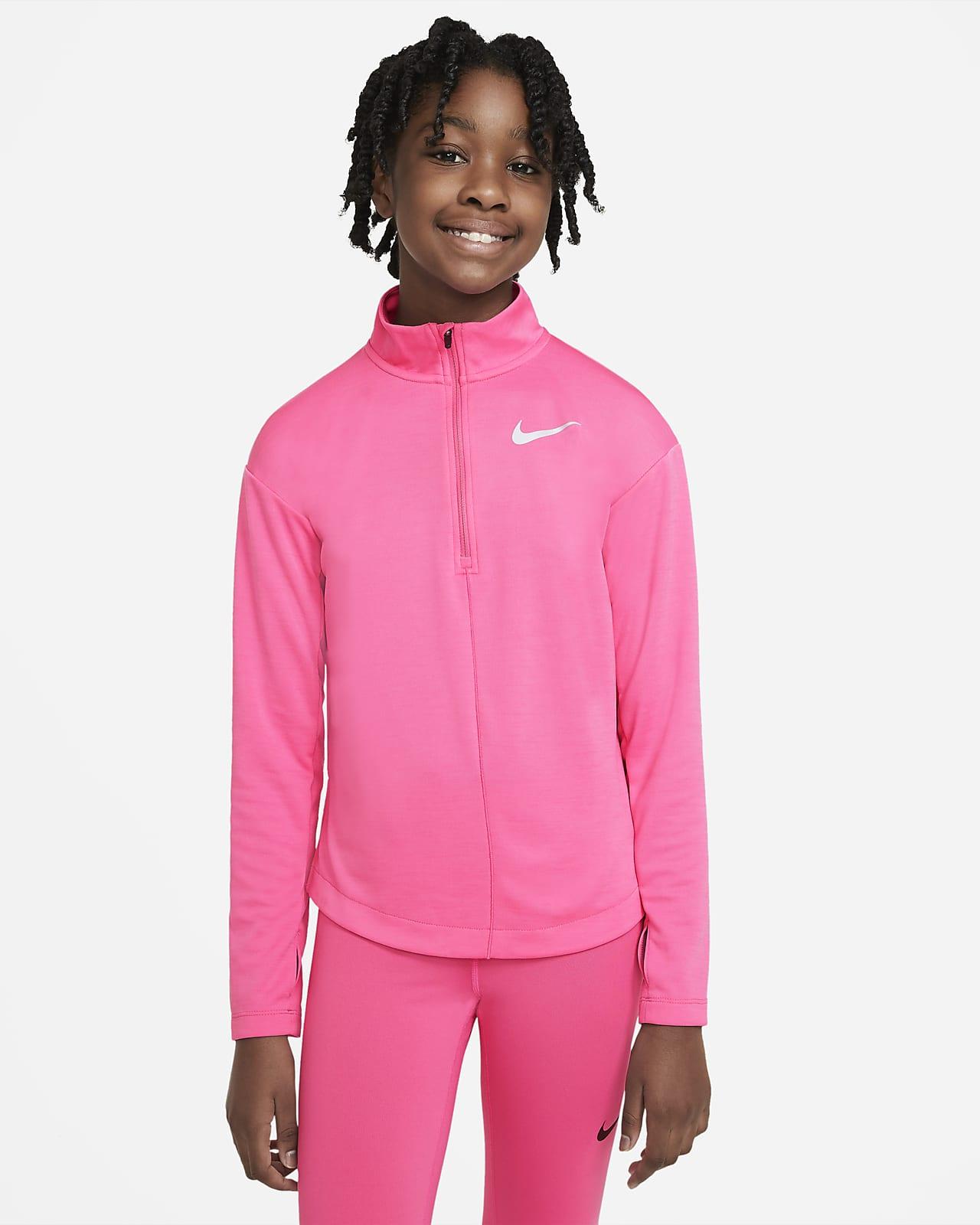 Nike Uzun Kollu Yarım Fermuarlı Genç Çocuk (Kız) Koşu Üstü
