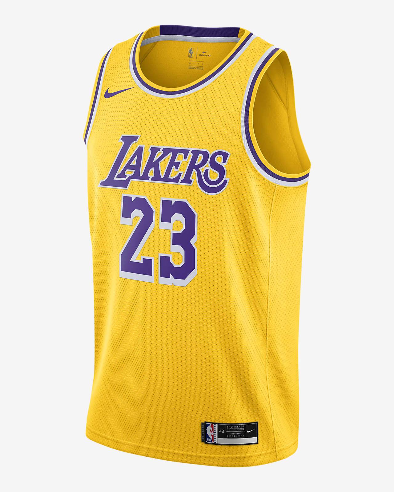 2020 赛季洛杉矶湖人队 (LeBron James) Icon Edition Nike NBA Swingman Jersey 男子球衣