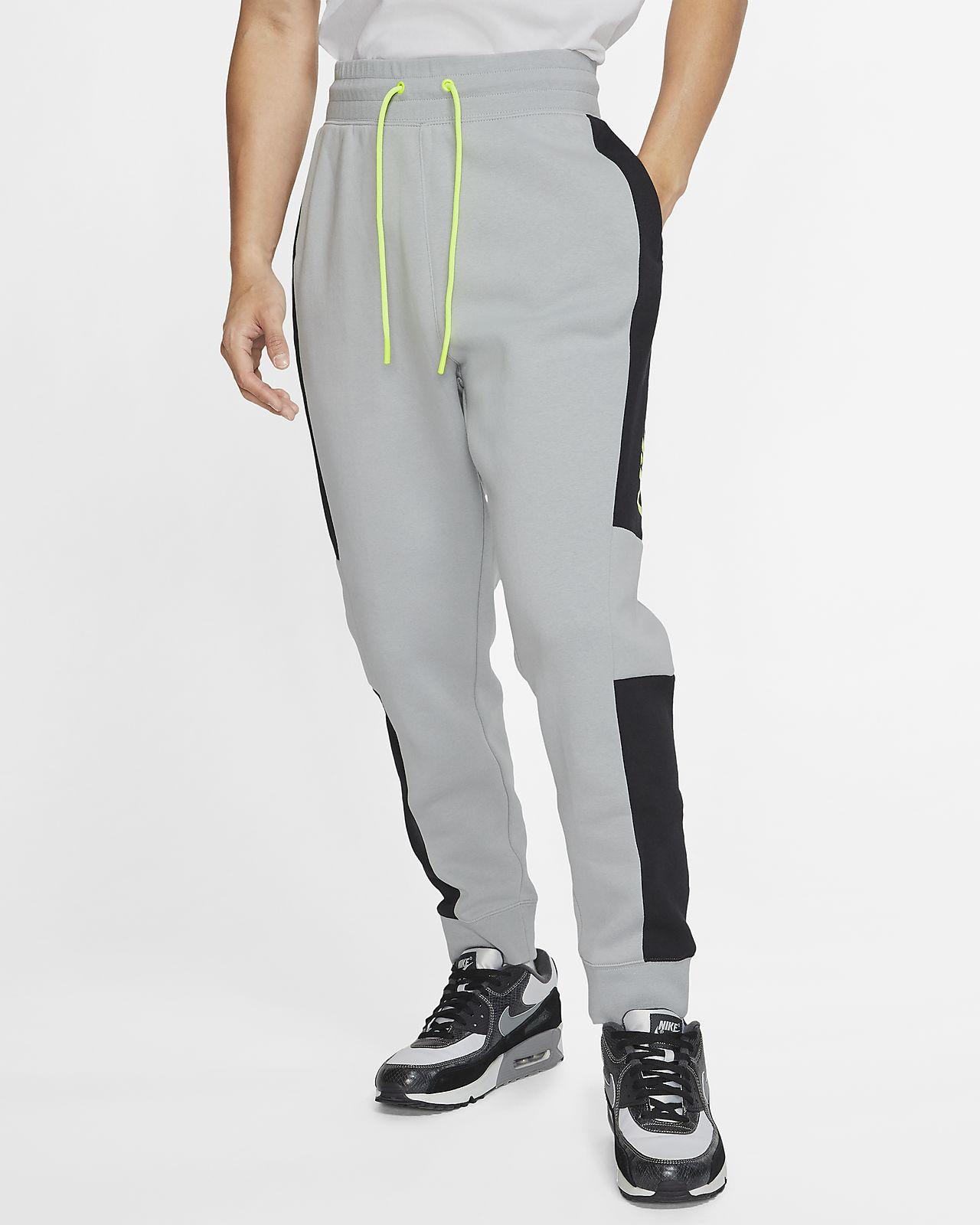 Nike Men's Nike Air Fleece Jogger Pants (Grey)