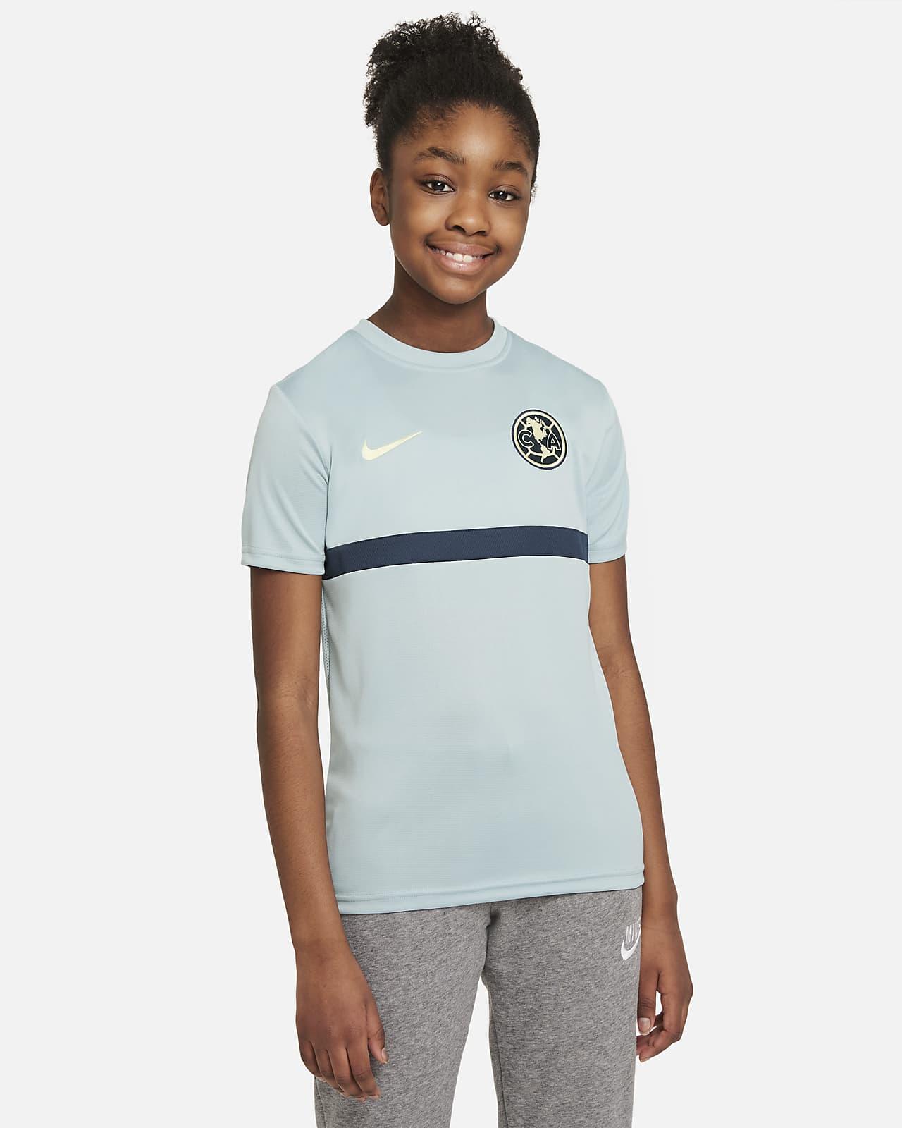 Camiseta de fútbol de manga corta para niños talla grande Club América Academy Pro