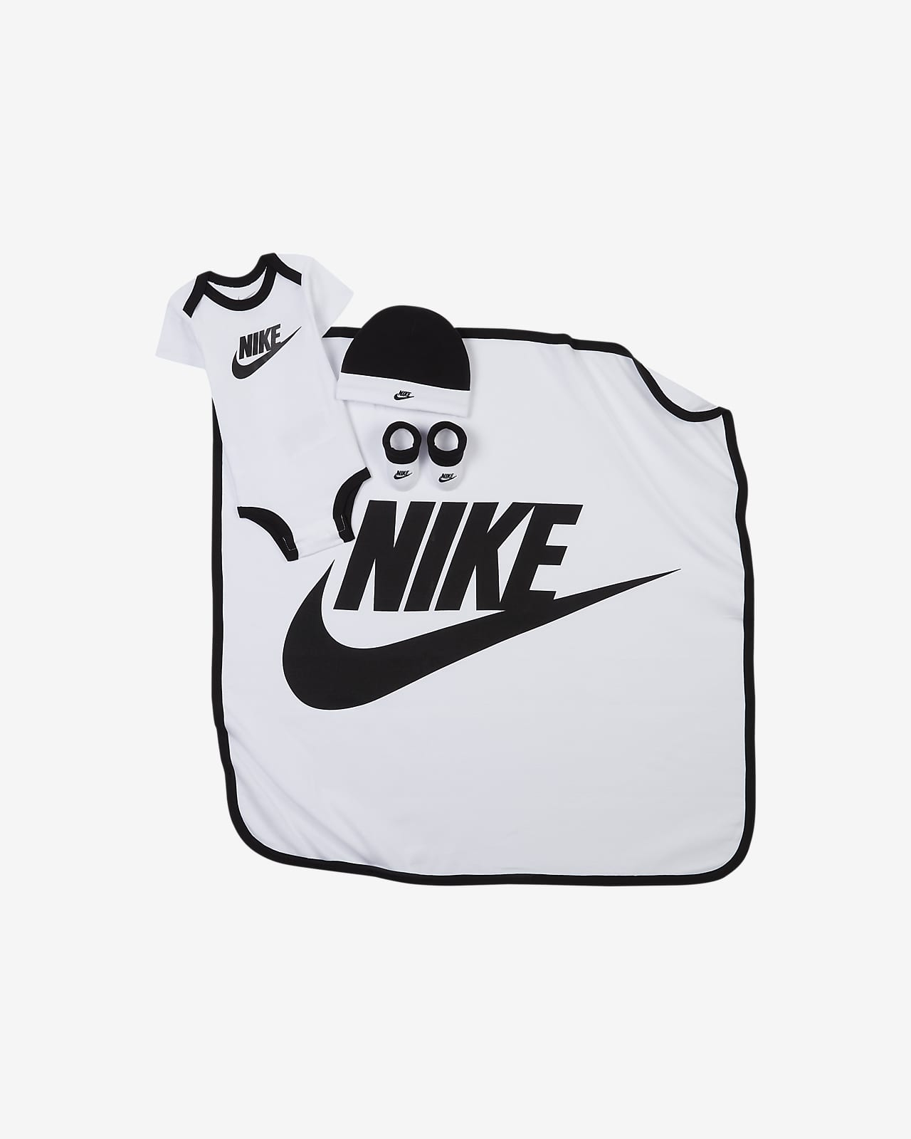 Conjunto de body, gorro, cubrecalzado y manta para bebé Nike