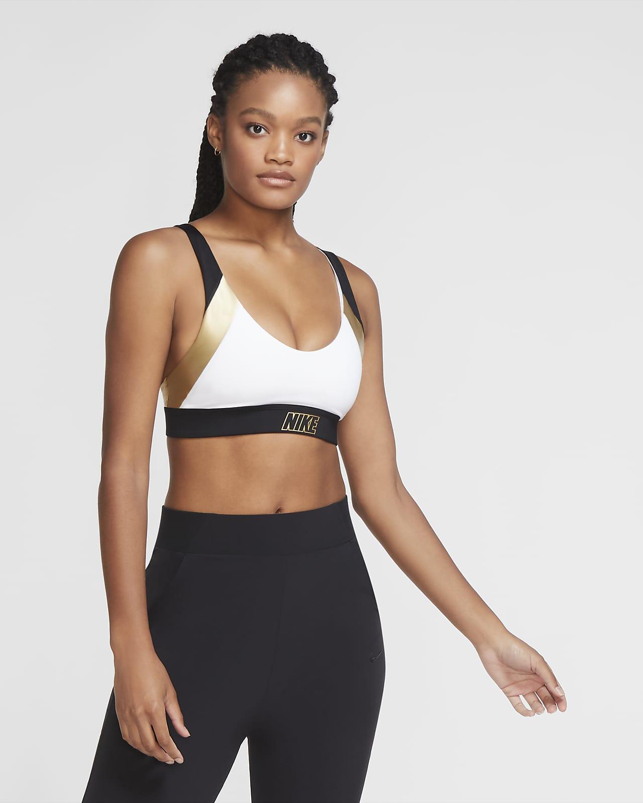 Nike Indy enyhe tartást adó fémes női sportmelltartó