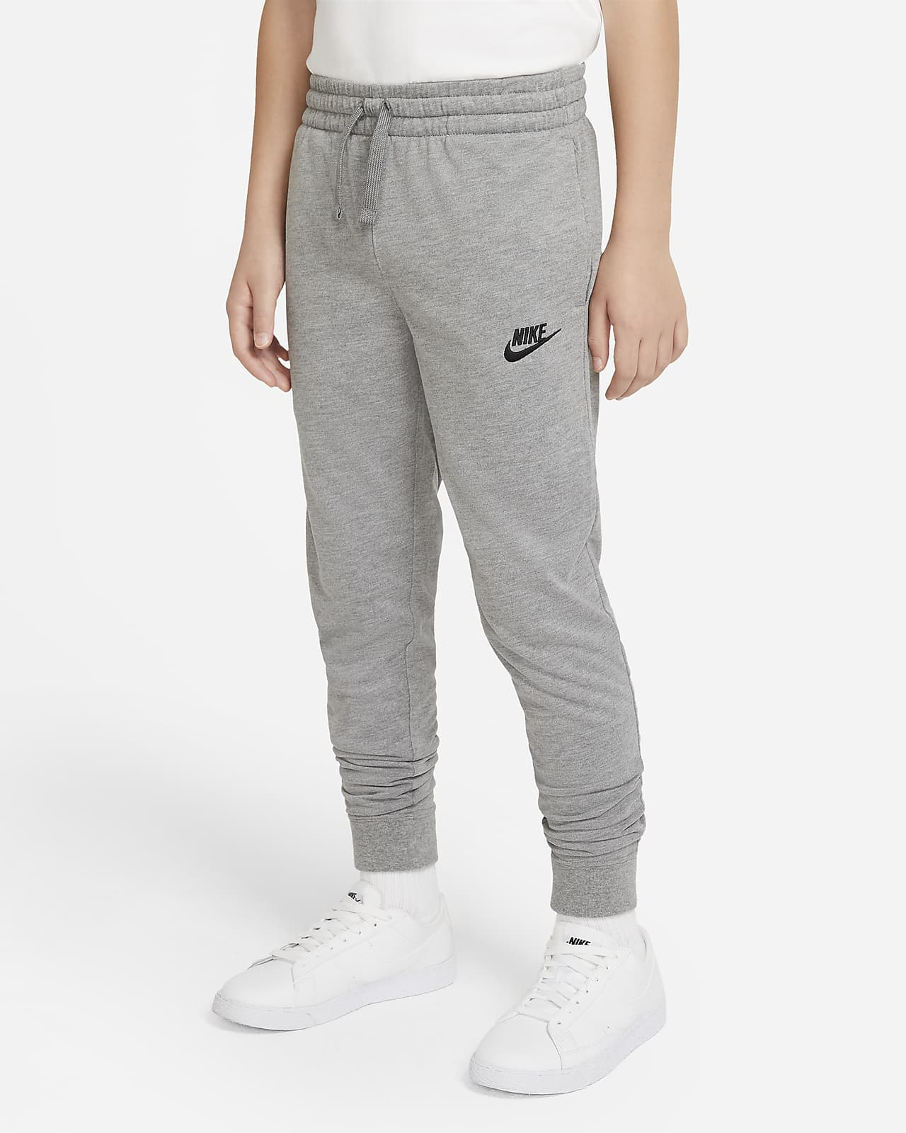 Pantalones de entrenamiento de tejido de punto de algodón para niño talla grande Nike Sportswear