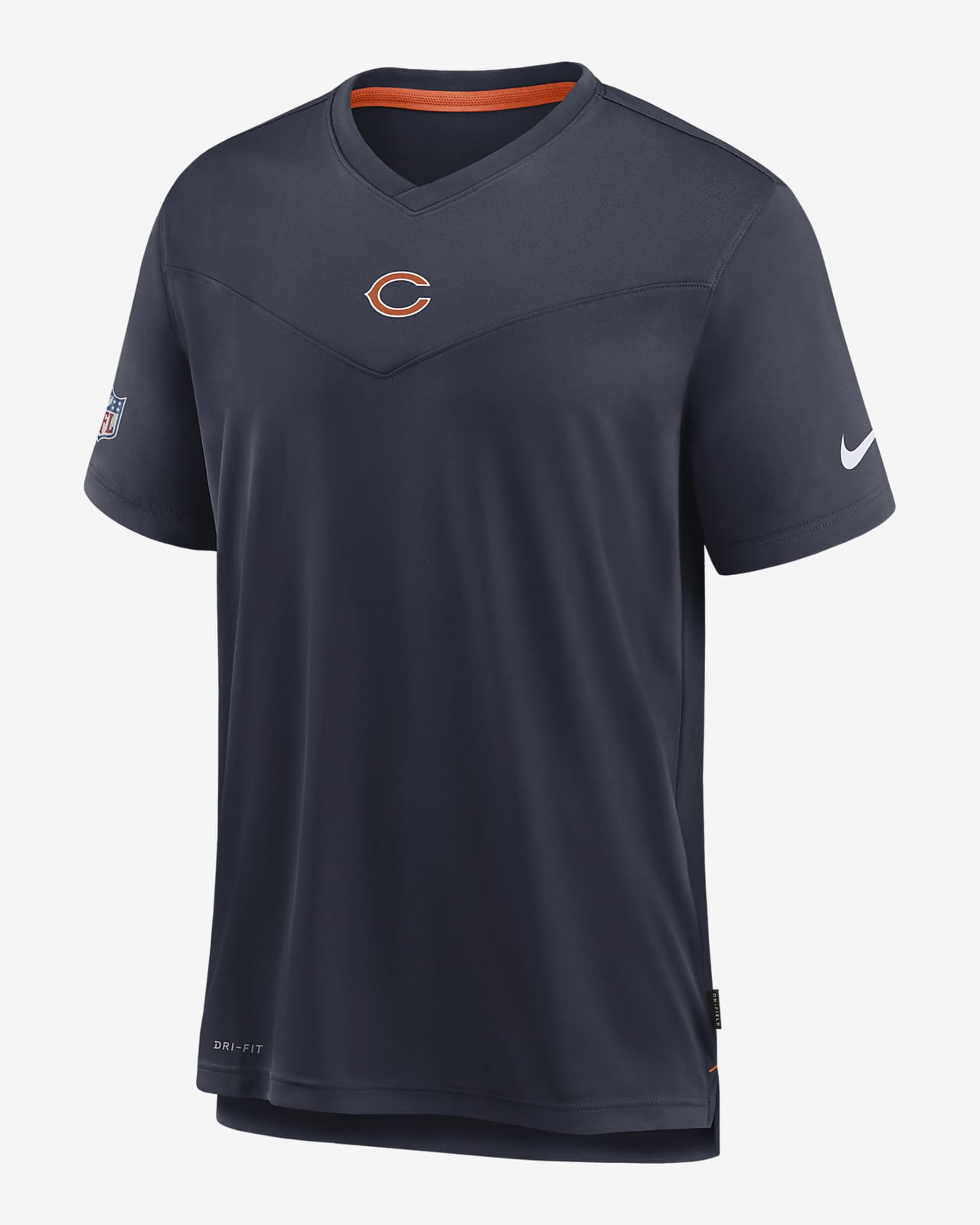 Nike Dri-FIT Sideline Coaches (NFL Chicago Bears) Men's V-Neck T-Shirt