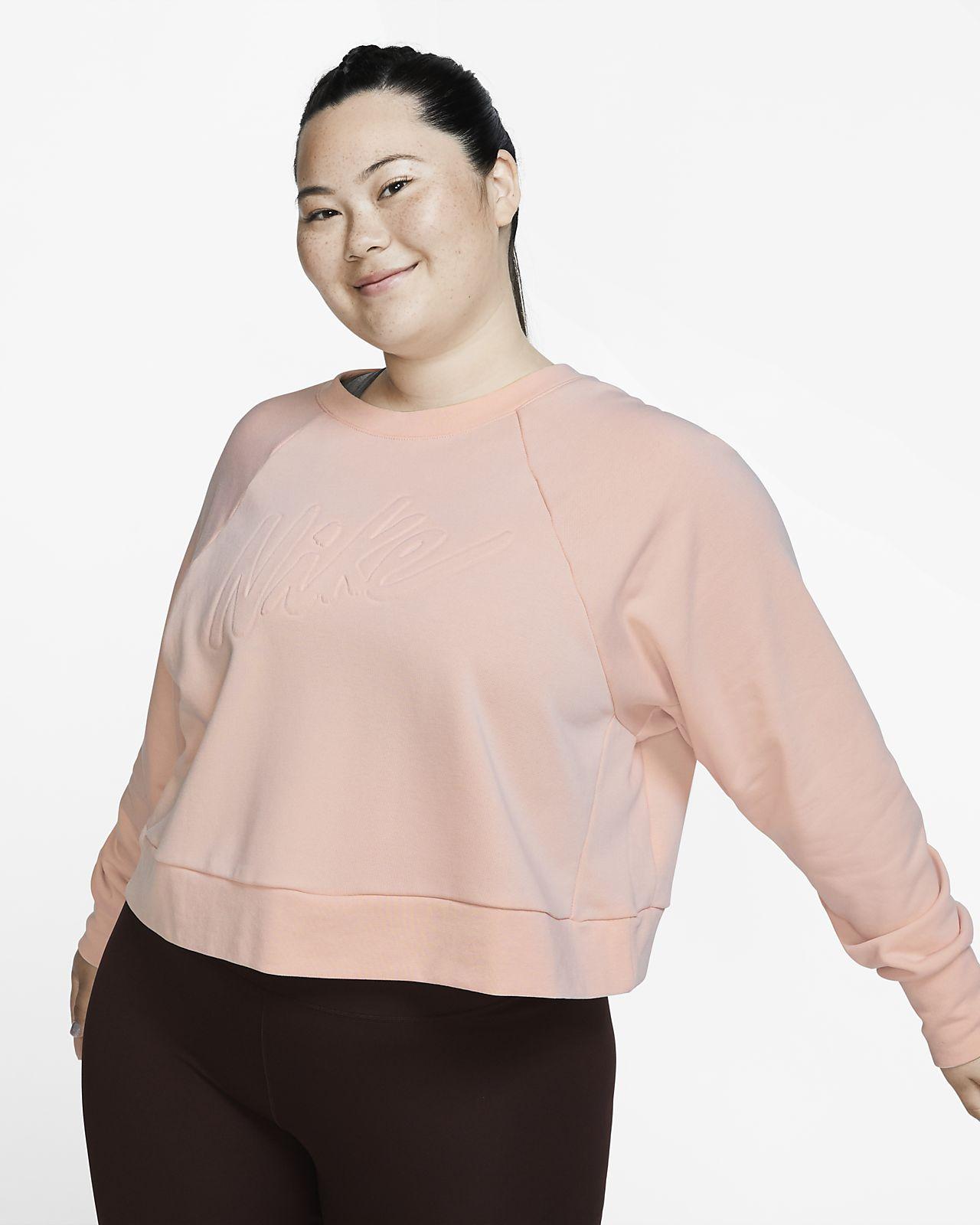 Långärmad träningströja Nike Dri-FIT Luxe för kvinnor (Plus Size)
