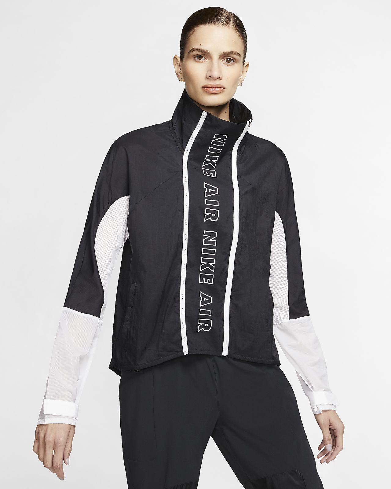 Löparhuvtröja Nike med blixtlås i fullängd för kvinnor i
