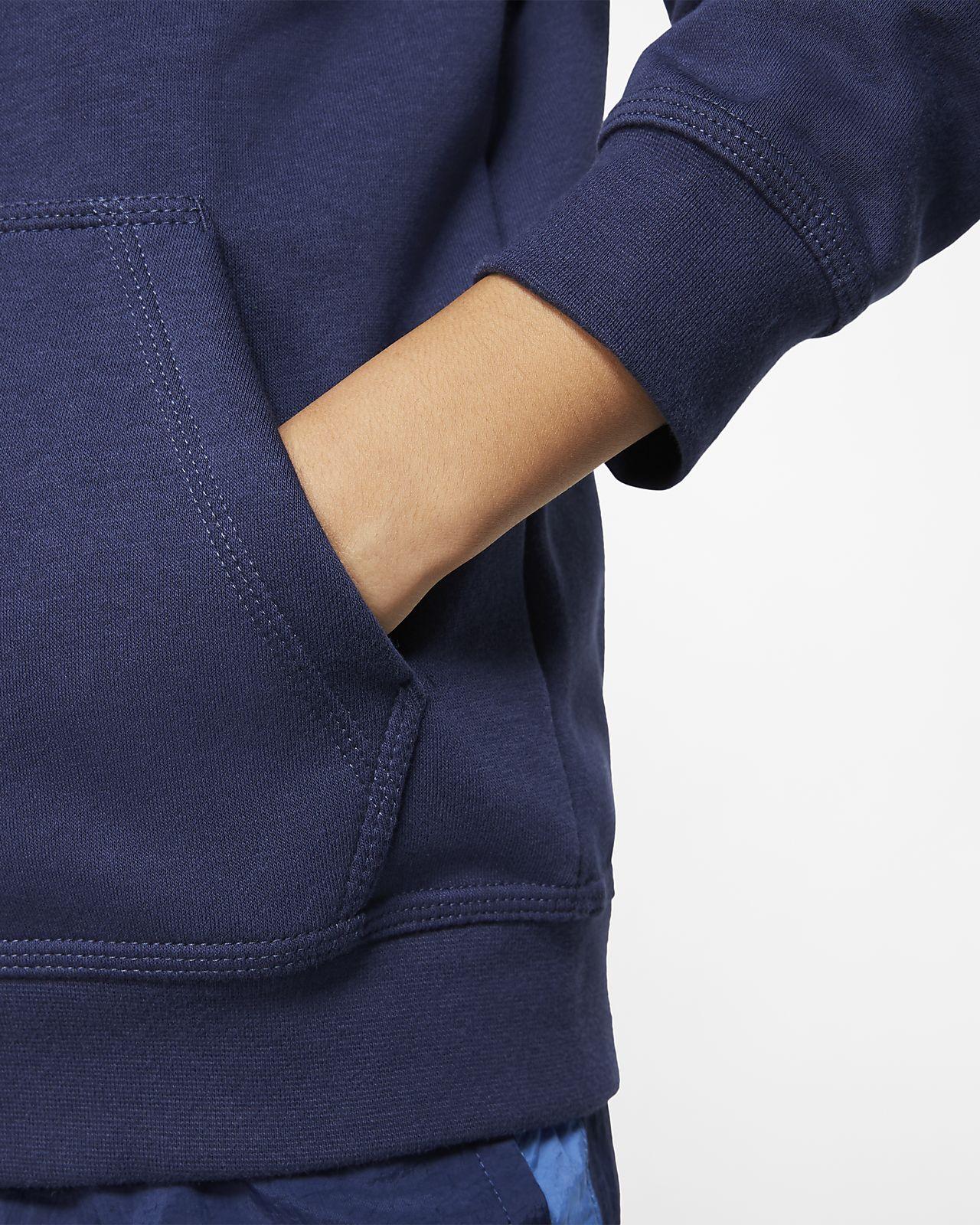 nike sportswear club felpa con cappuccio per bambini