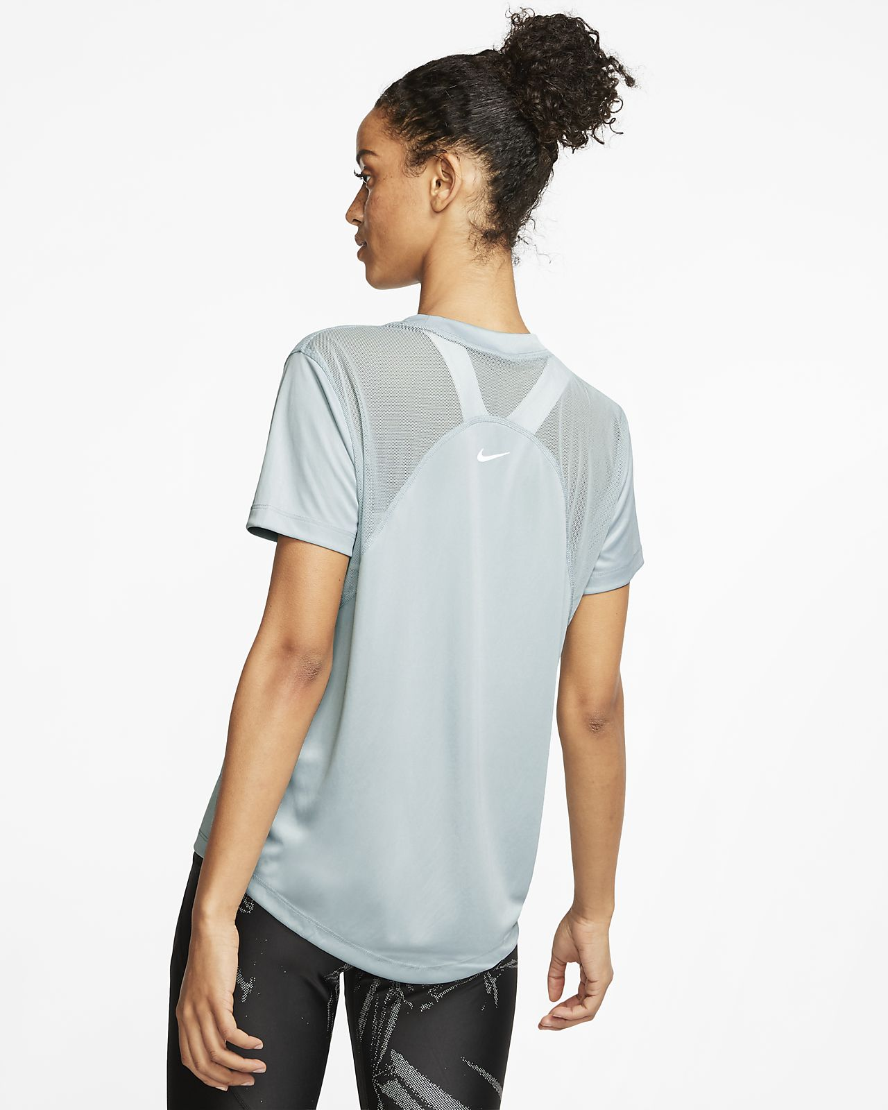 Nike Dri FIT Miler Women's Short Sleeve Metallic Running Top
