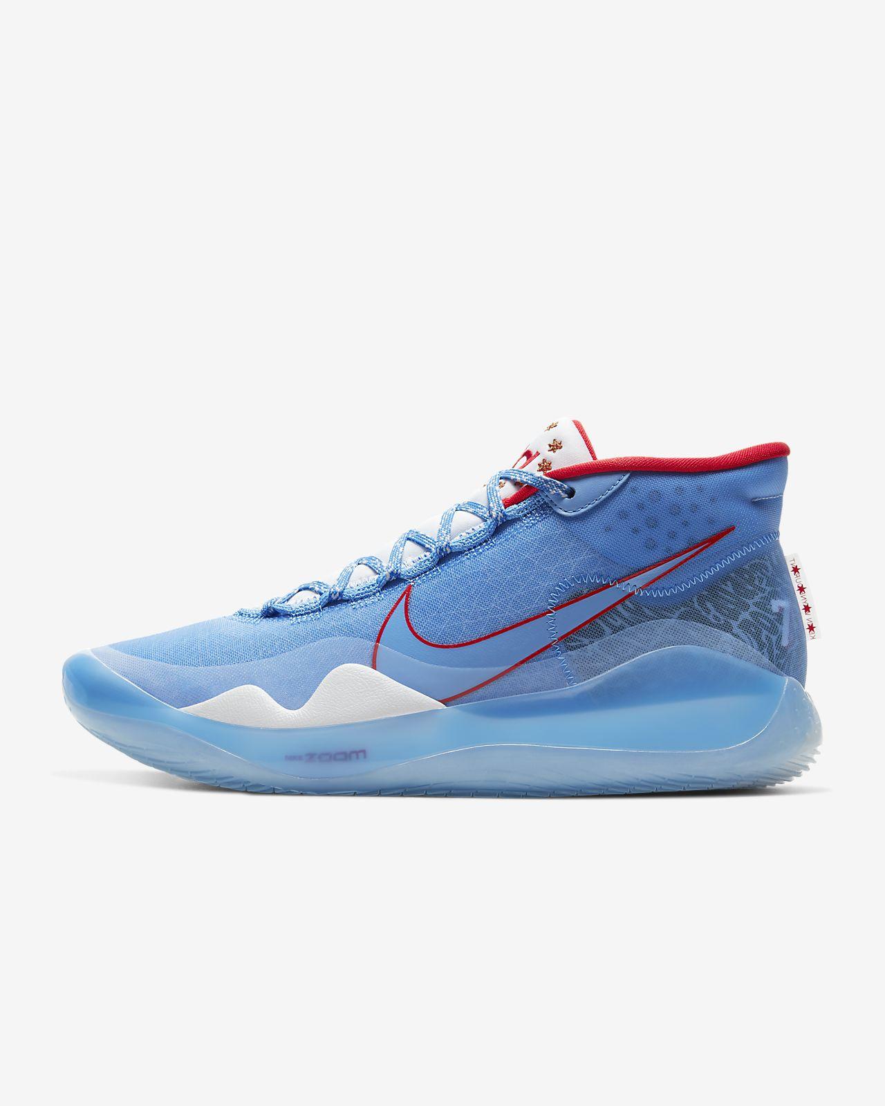 Basketball Skor Nike Zoom KD III Kevin Durant Vit Vit Team