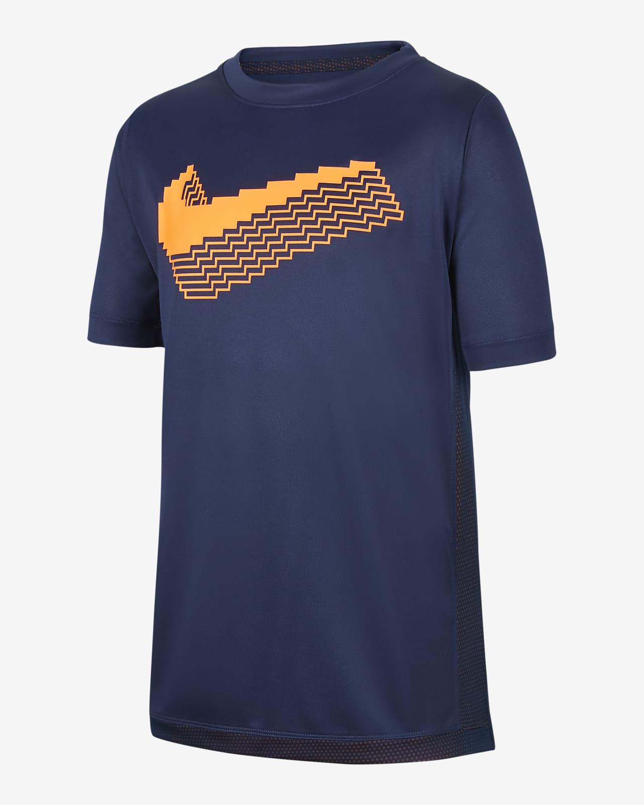 เสื้อเทรนนิ่งแขนสั้นเด็กโตมีกราฟิก Nike Trophy (ชาย)